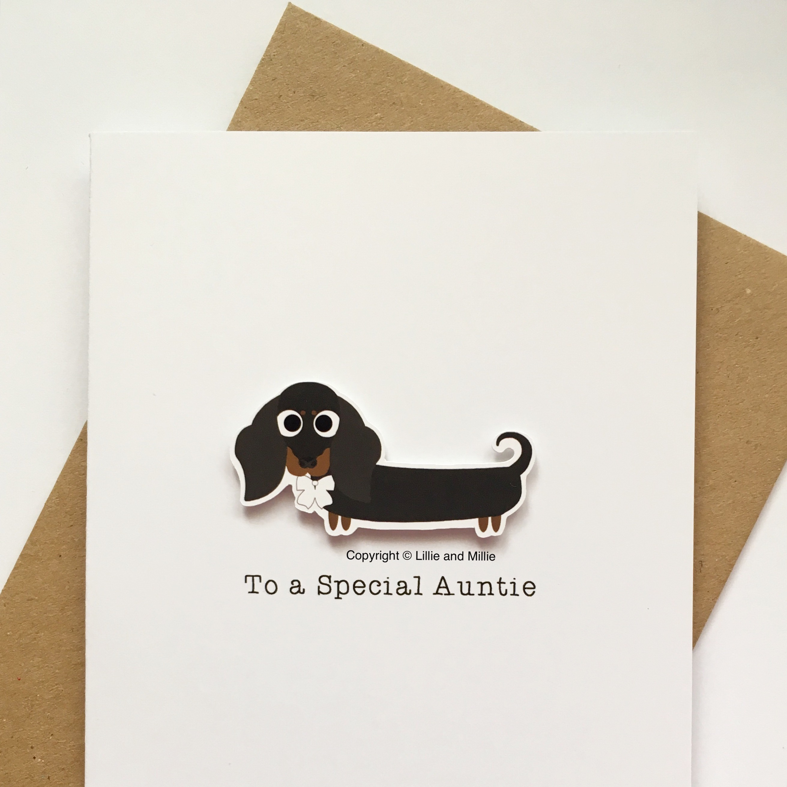 Cute and Cuddly To a Special Auntie Dachshund Card