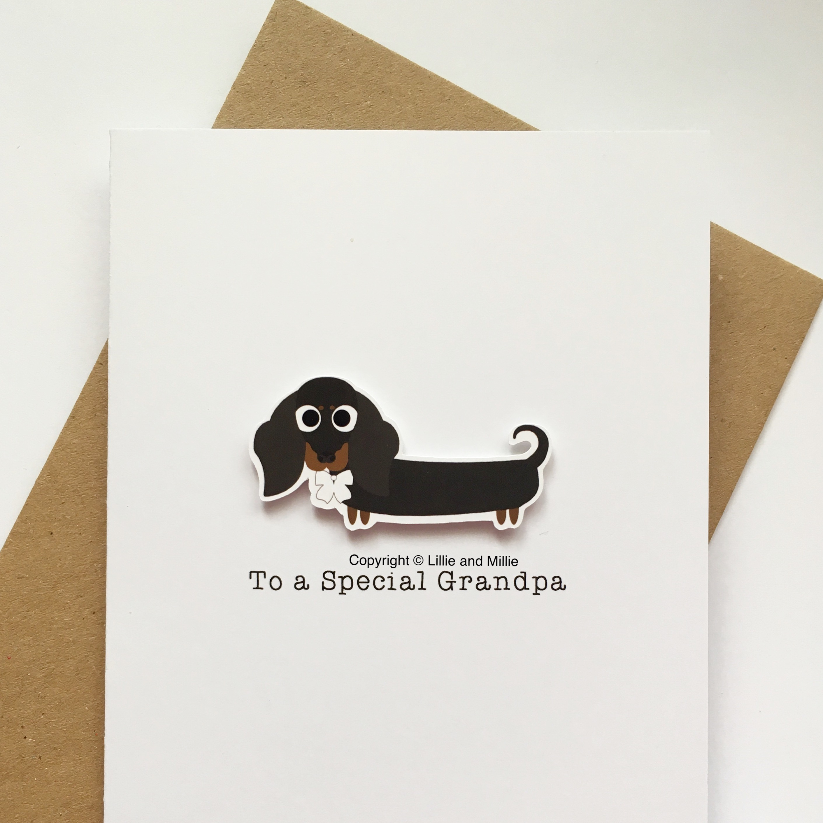 Cute and Cuddly To a Special Grandpa Dachshund Card