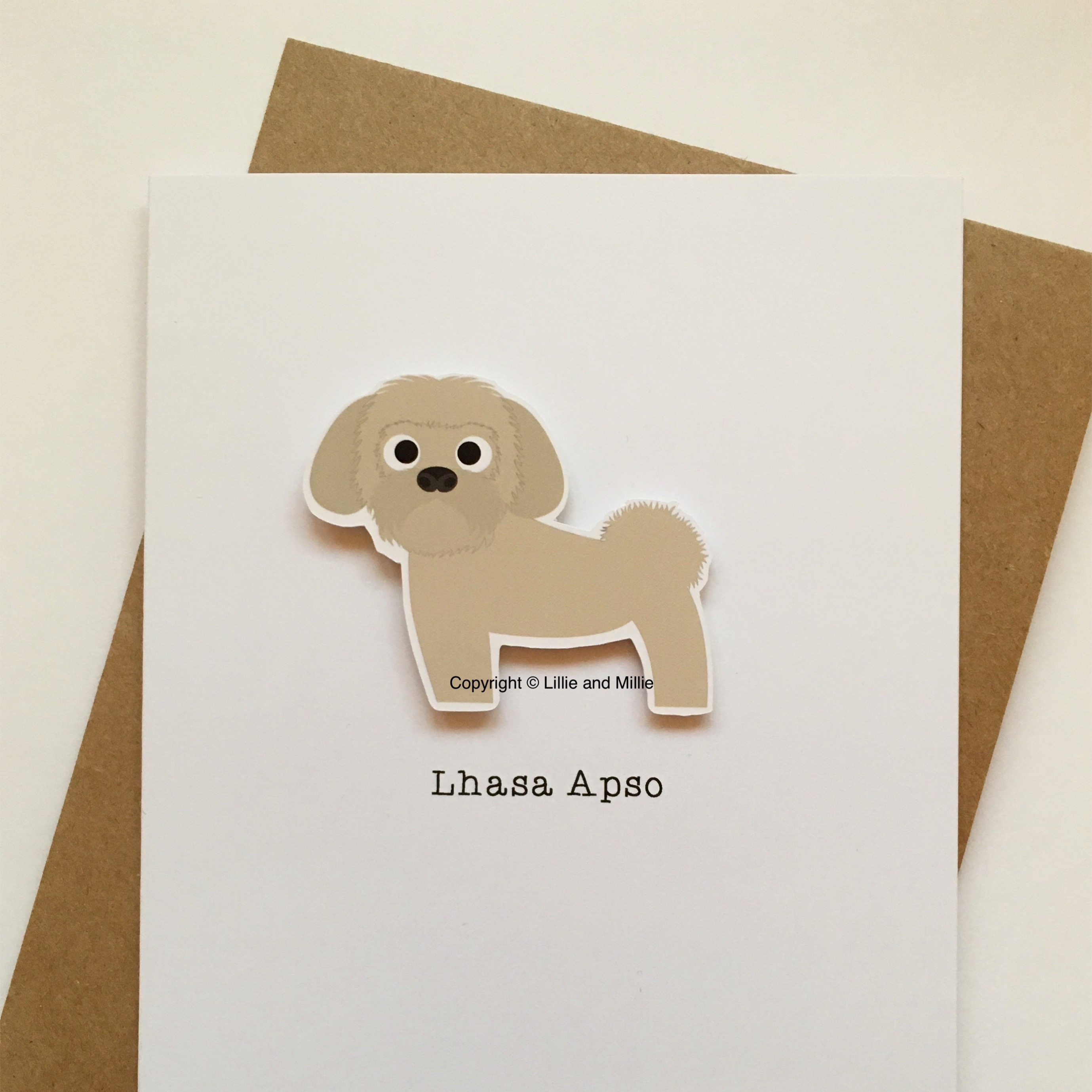 Cute and Cuddly Lhasa Apso Card