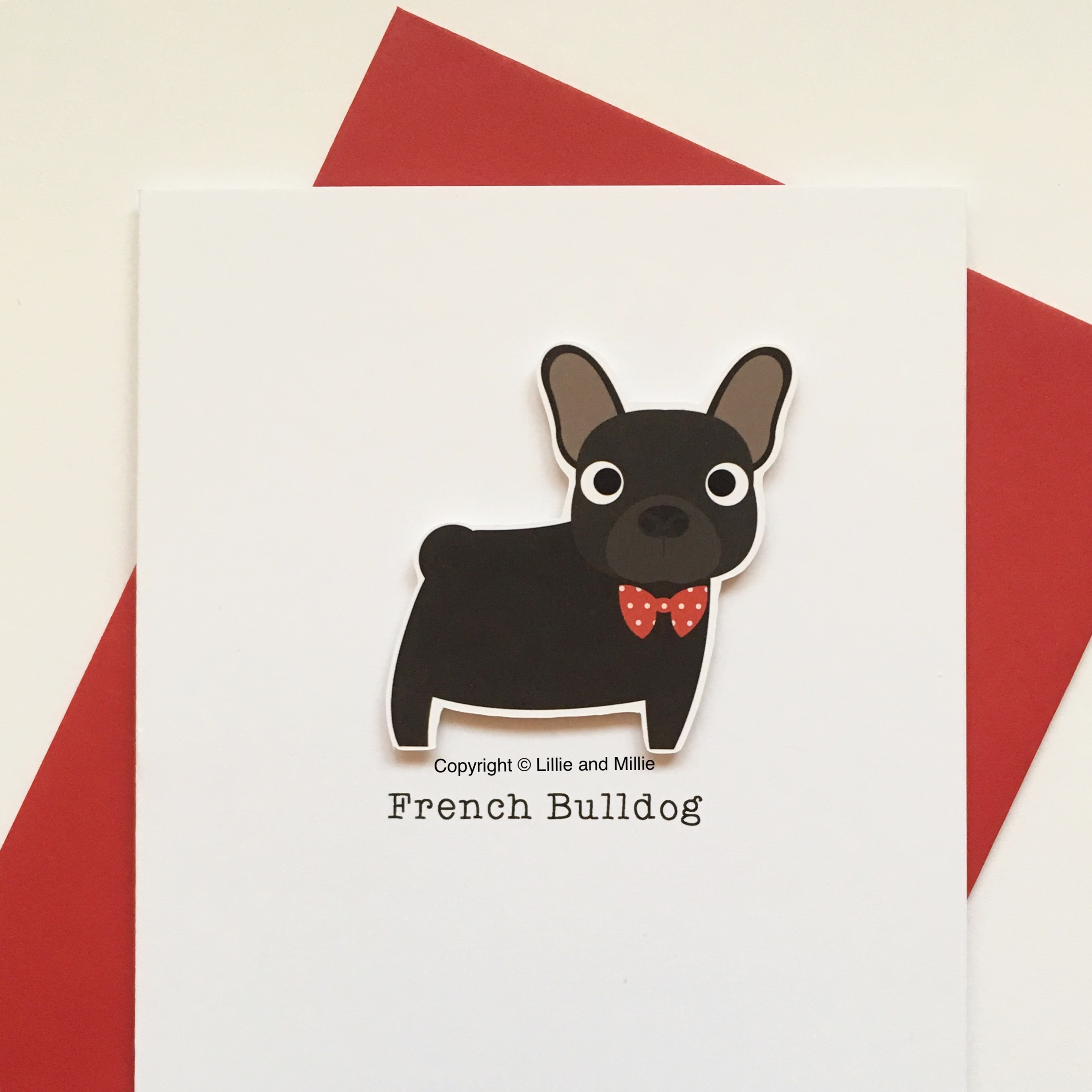 French Bulldog Dog Greetings Card
