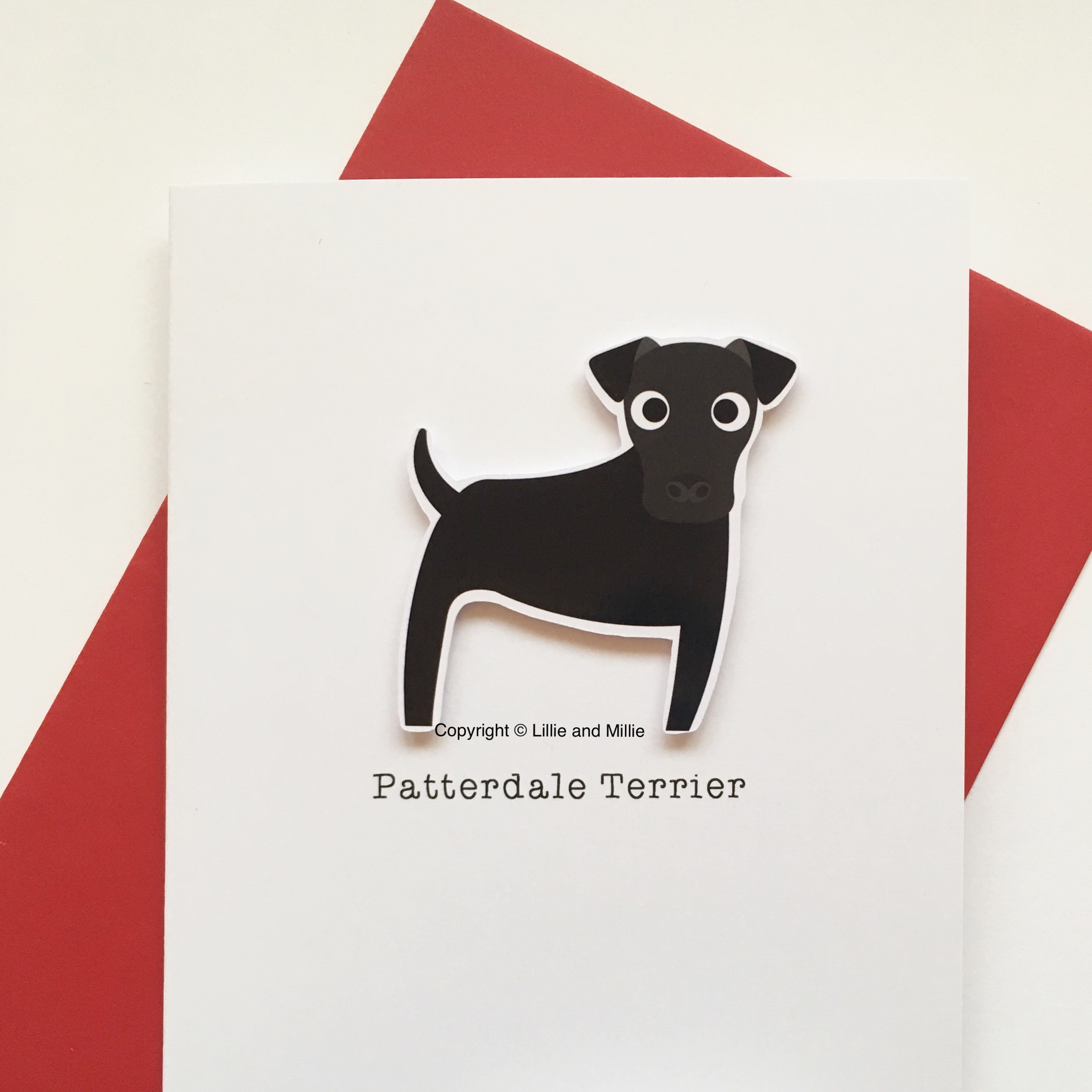 Patterdale Dog Greetings Card