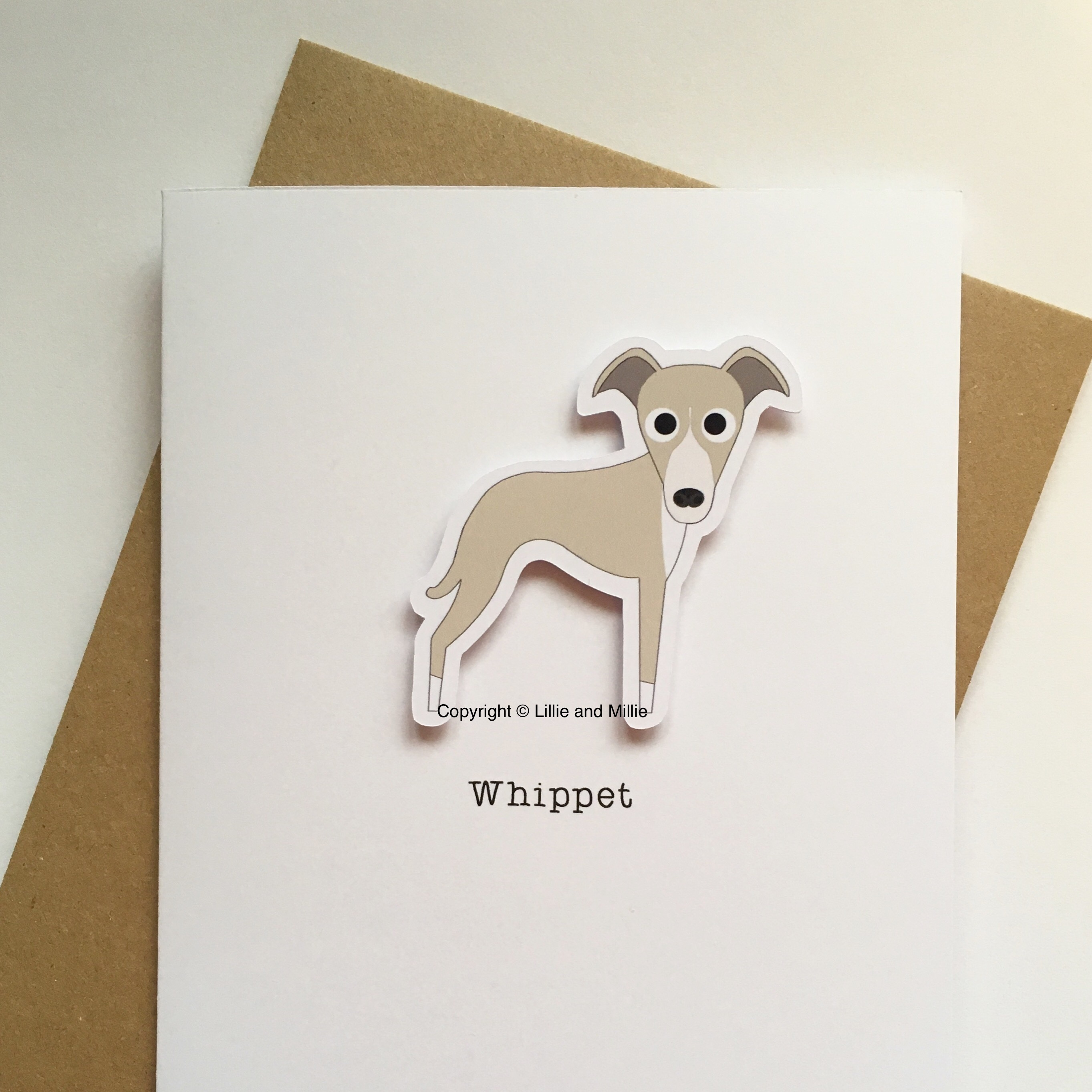 Cute and Cuddly Whippet Greetings Card