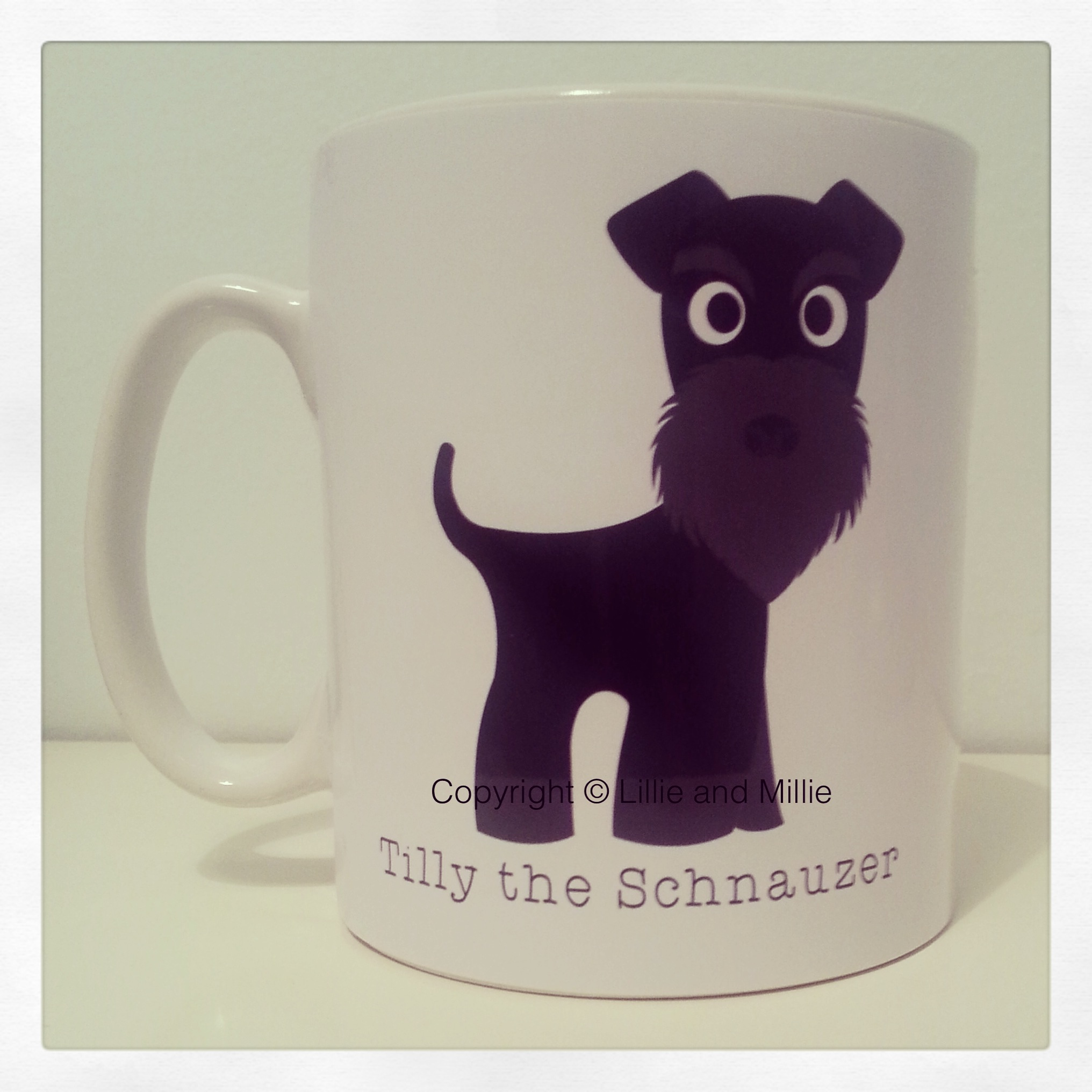 Cute and Cuddly Black Schnauzer Mug Plain