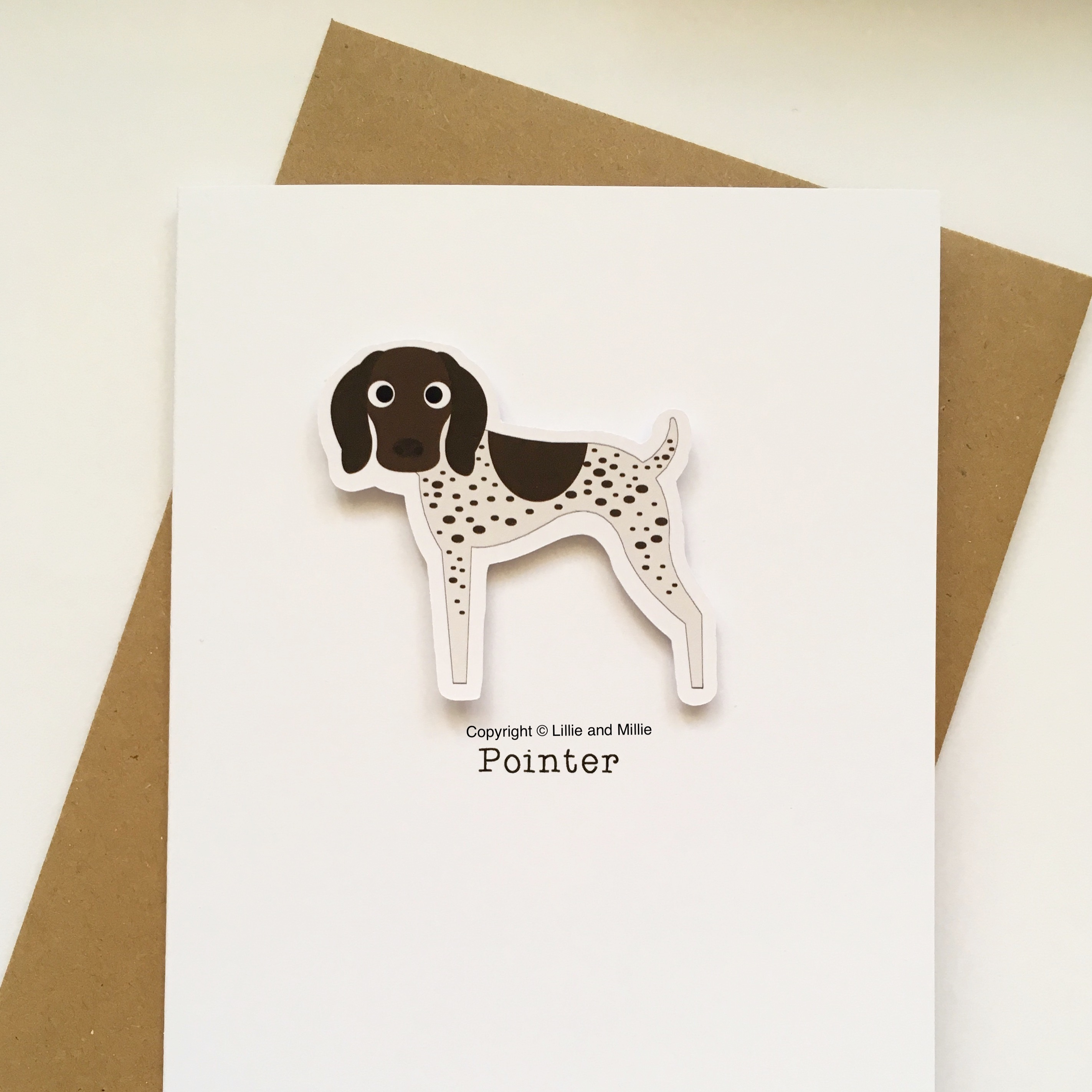 Pointer Dog Greetings Card