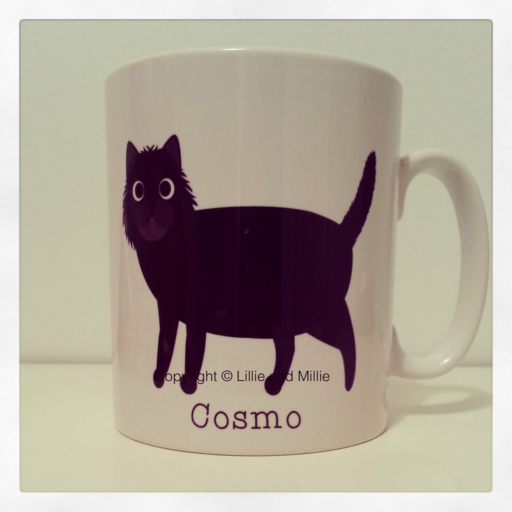 Cute and Cuddly Black Cat Mug