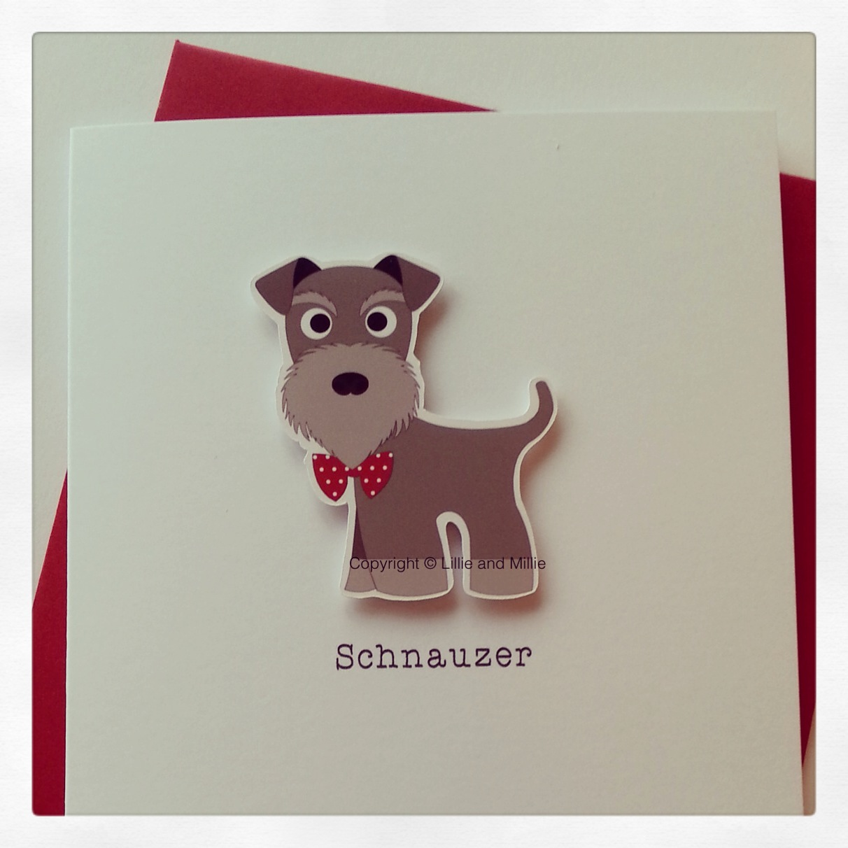 Cute and Cuddly Pepper and Salt Schnauzer Card