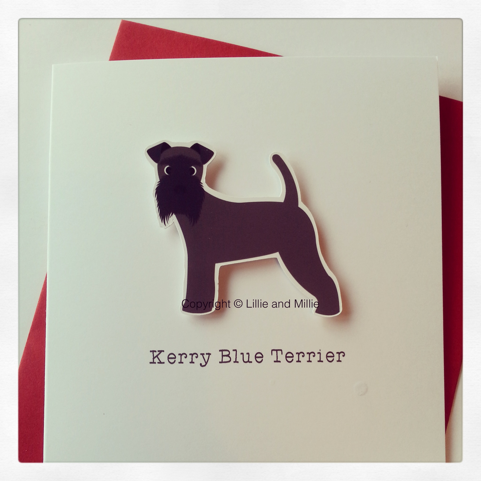 Cute and Cuddly Kerry Blue Terrier Card