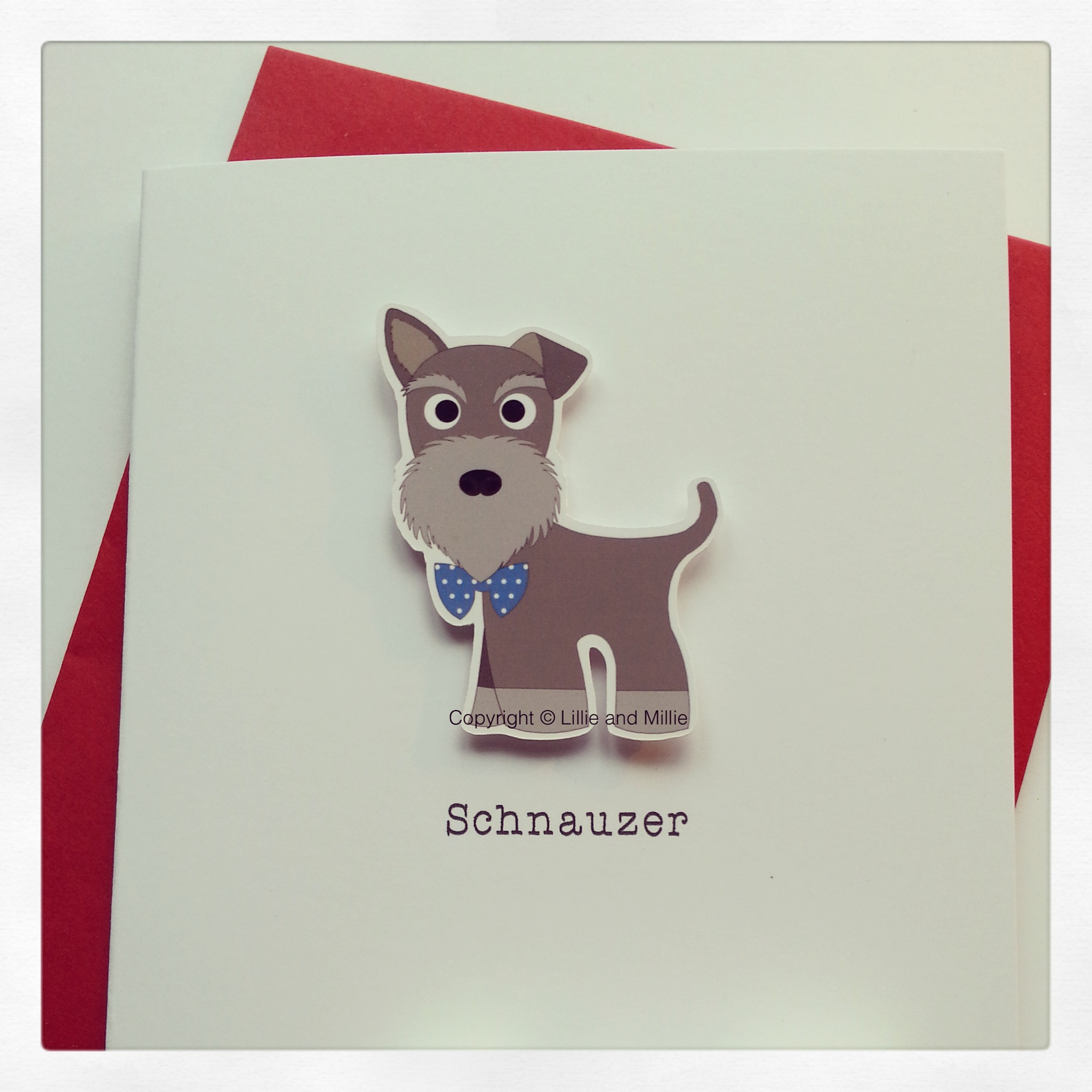 Cute and Cuddly Pepper and Salt Mixed Ears Card