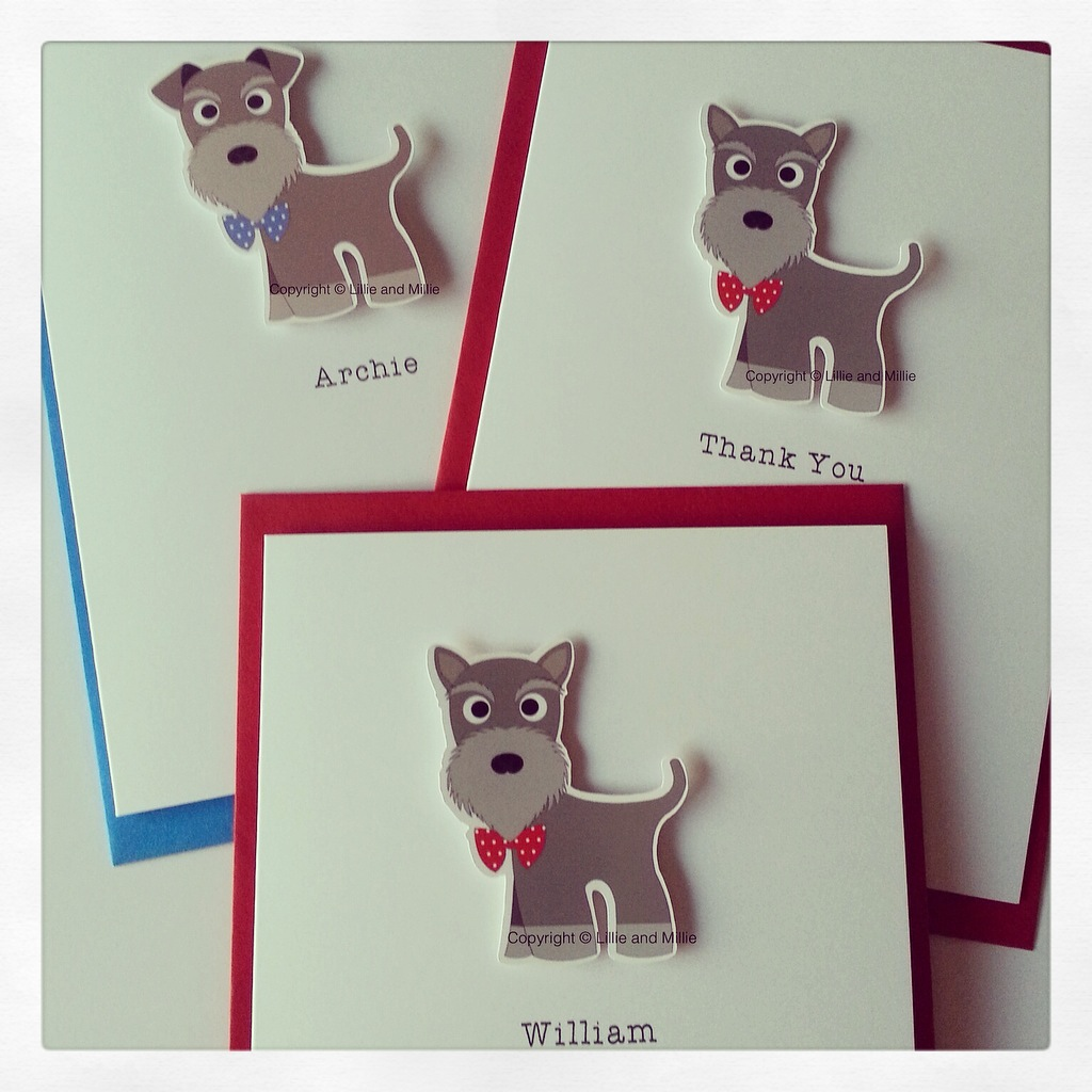 PERSONALISED SCHNAUZER CARD