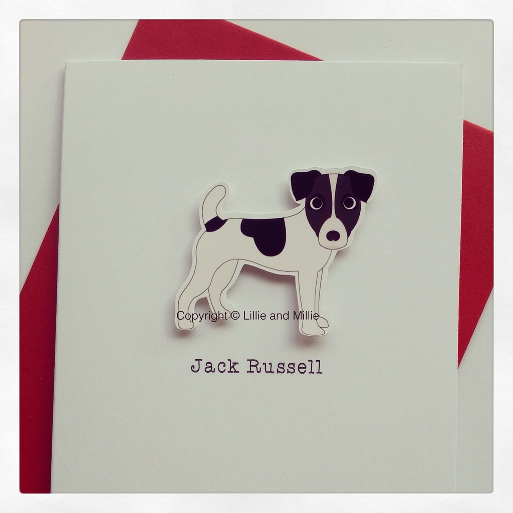 Precious Pooch Black and White Jack Russell Card