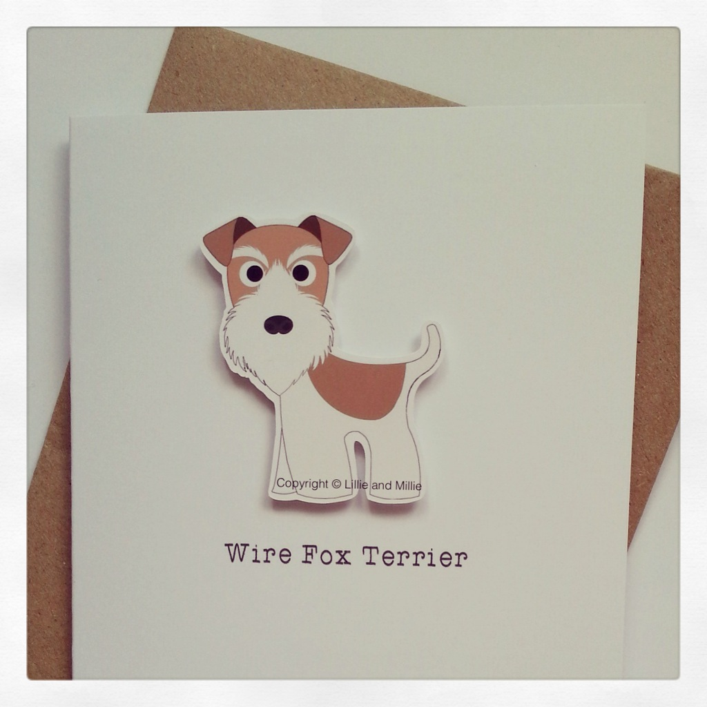 Cute and Cuddly Ginger Wire Fox Terrier Card