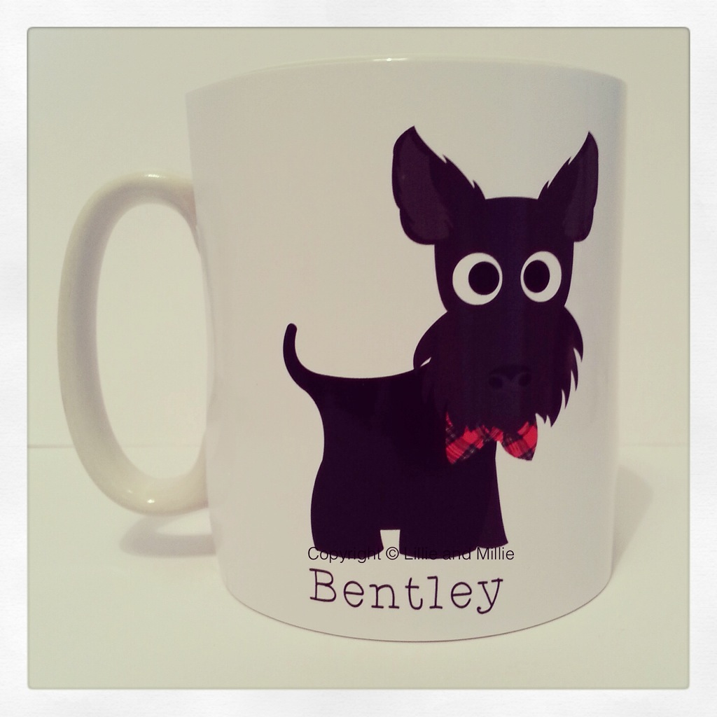 Cute and Cuddly Scottie Mug