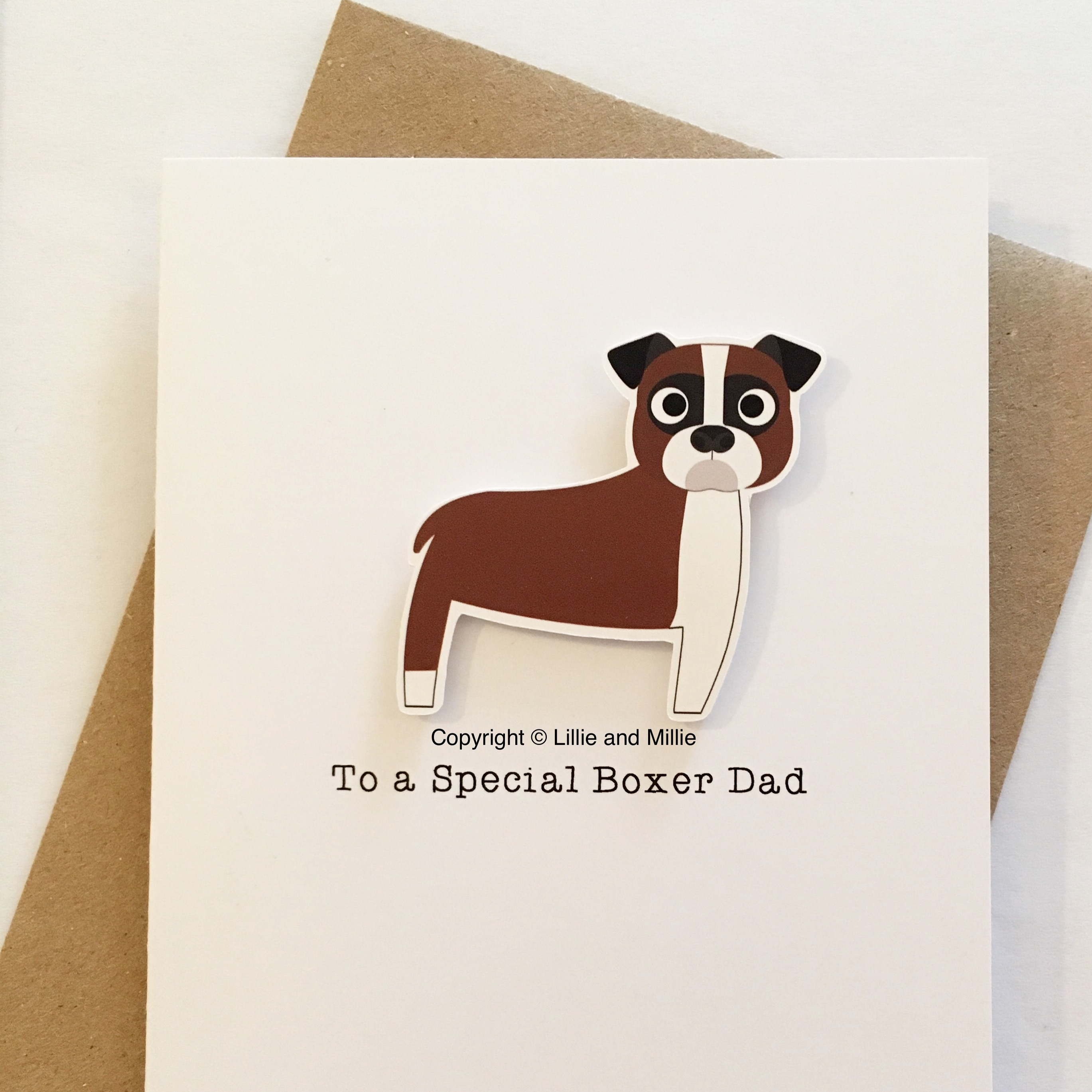 Cute and Cuddly To a Special Boxer Dad Card