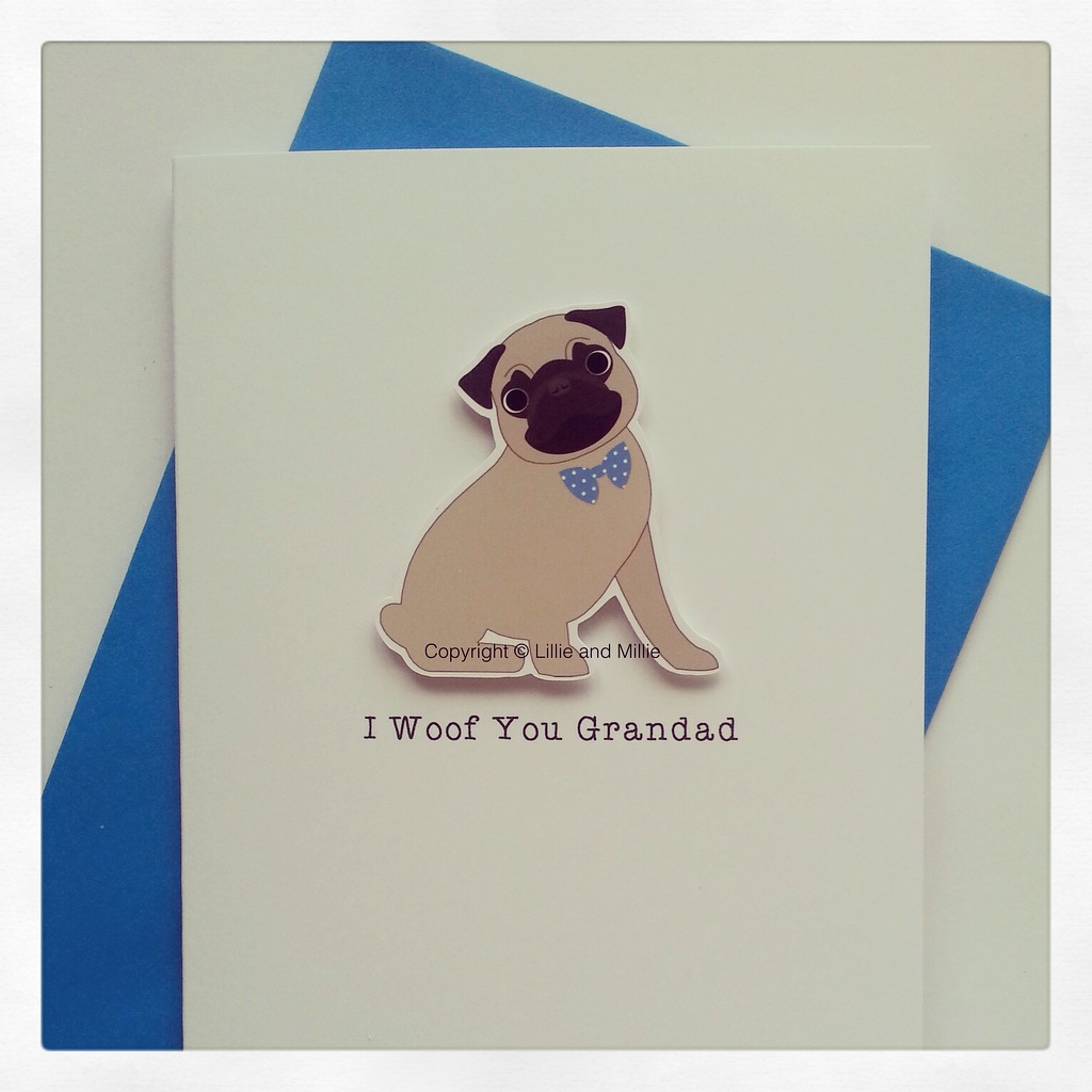 Cute and Cuddly I woof you Grandad card