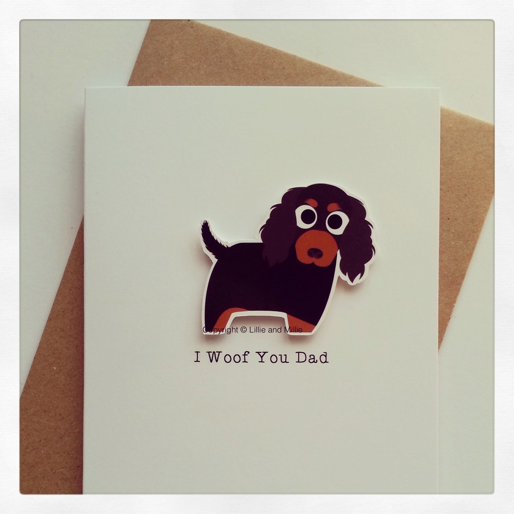 Cute and Cuddly I Woof You Dad CKCS Card
