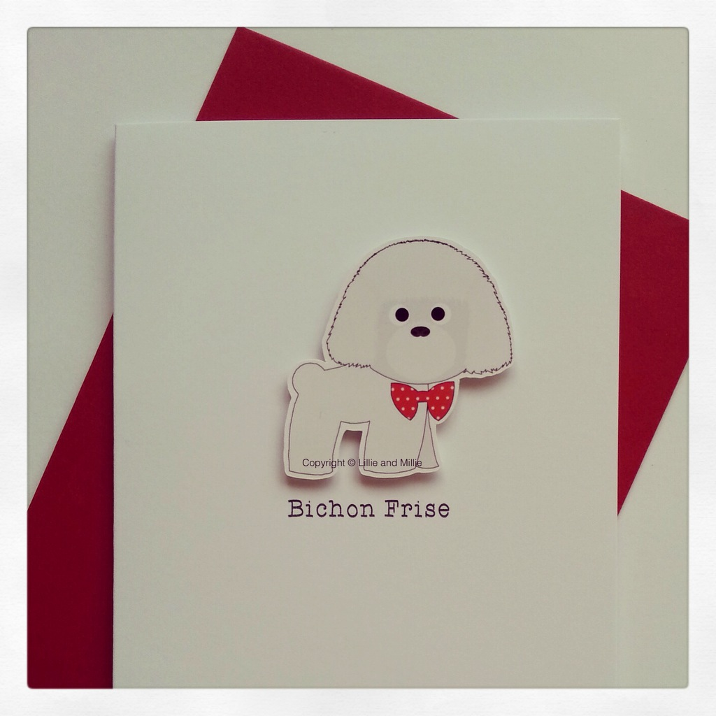 Bichon Frise Dog Greeting Card