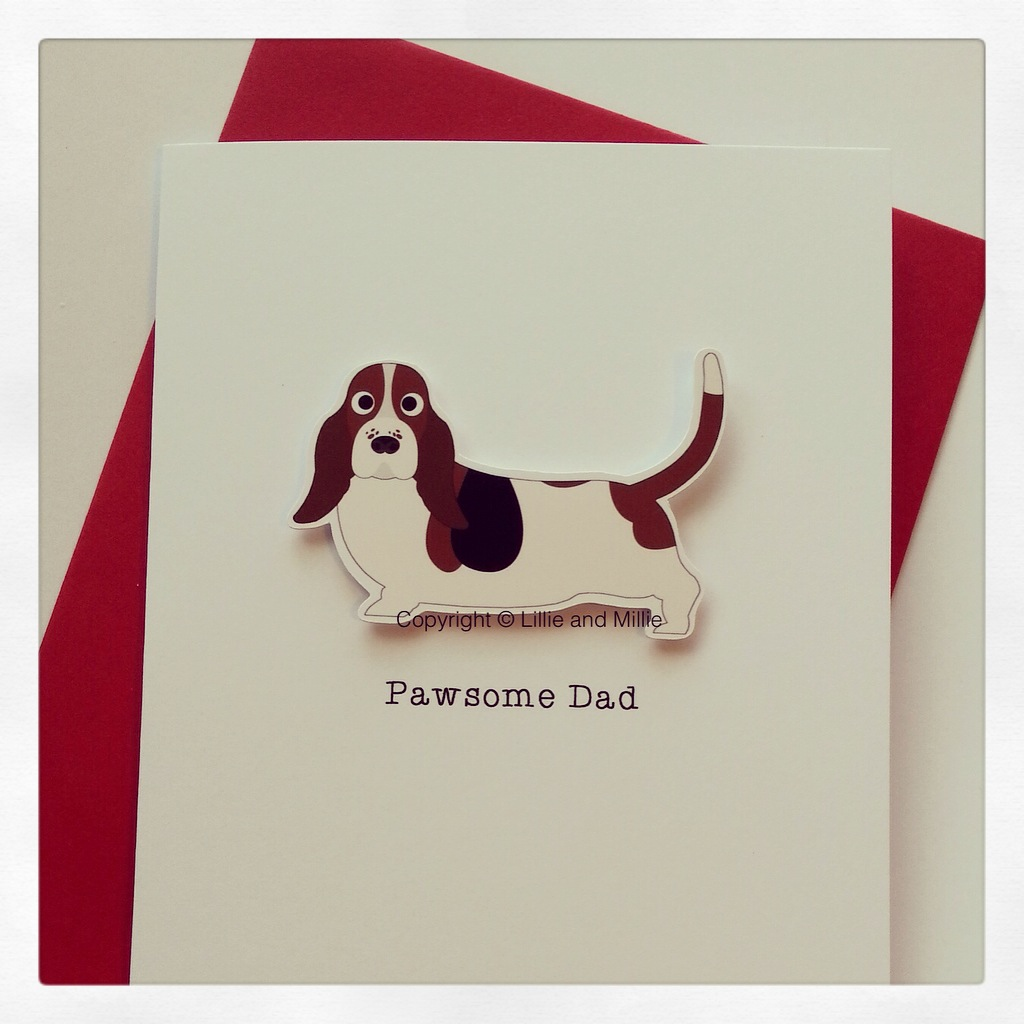 Cute and Cuddly Pawsome Dad Basset Hound
