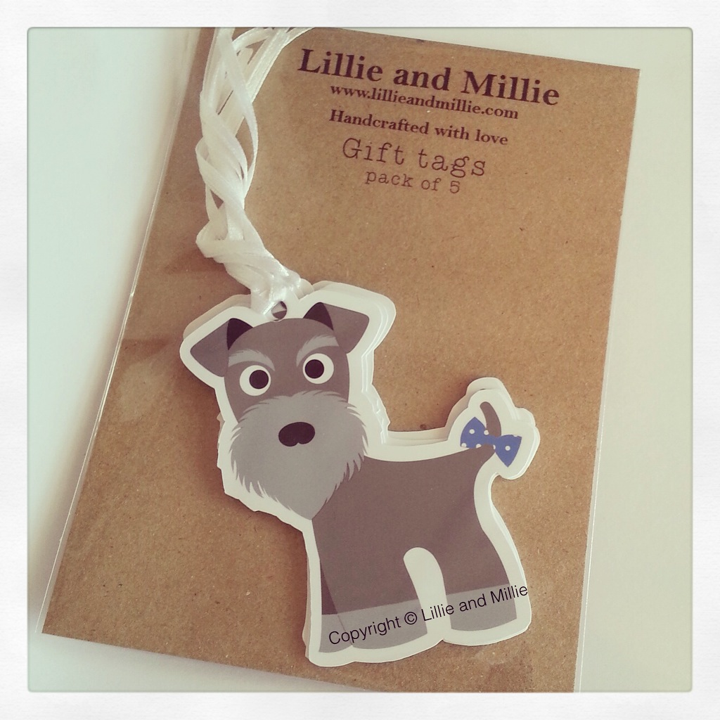 Cute and Cuddly Schnauzer Gift Tags