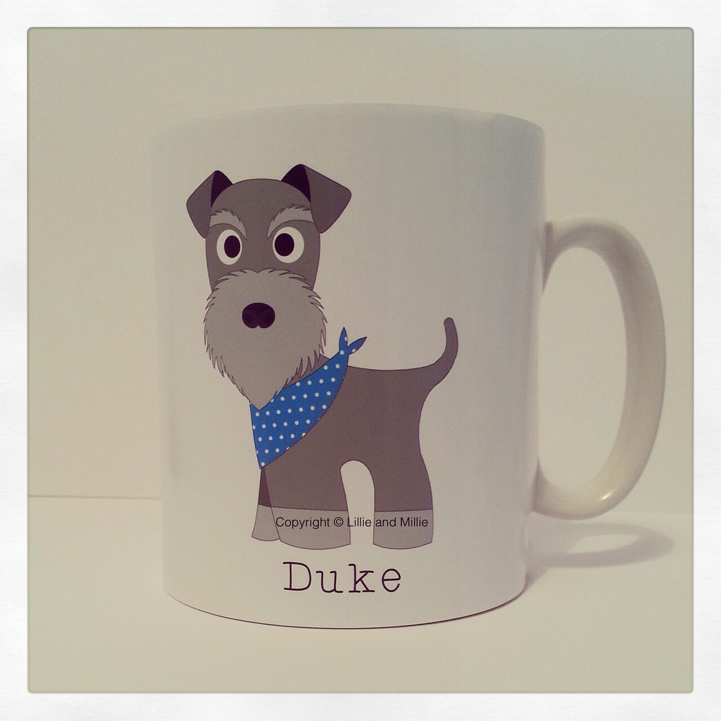 Cute and Cuddly Salt and Pepper Bandana Schnauzer Mug