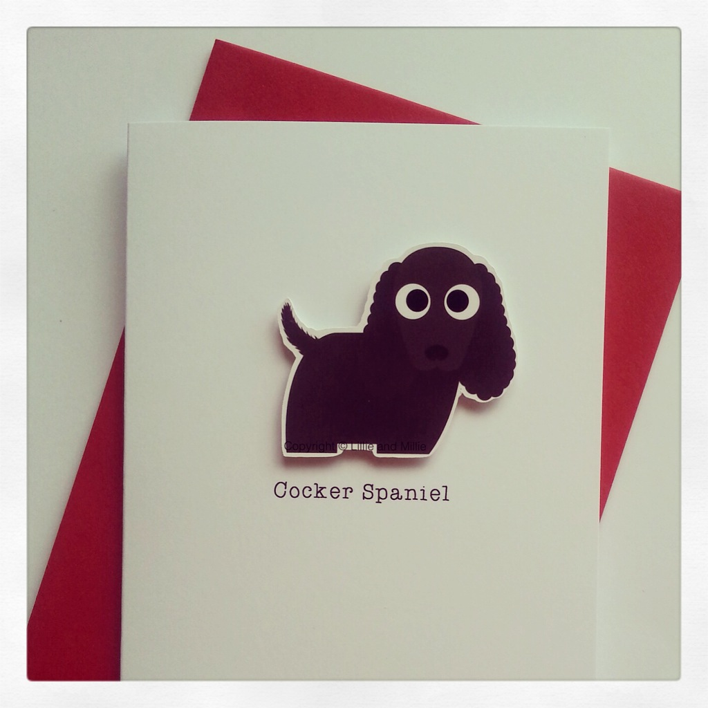 Cocker Spaniel Dog Greeting Card