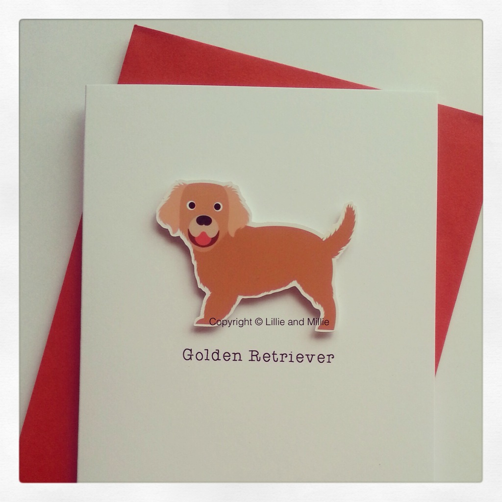 Cute and Cuddly Golden Retriever Breed Card