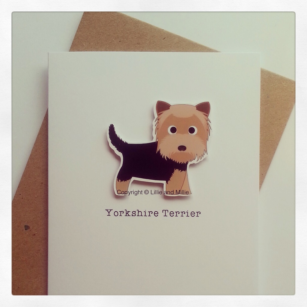 Yorkie Yorkshire Terrier Dog Greetings Card