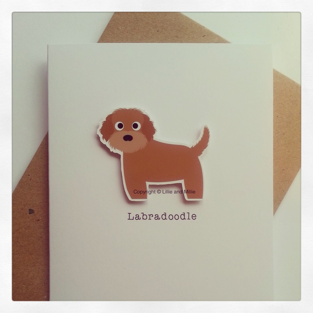 Labradoodle Dog Greetings Card
