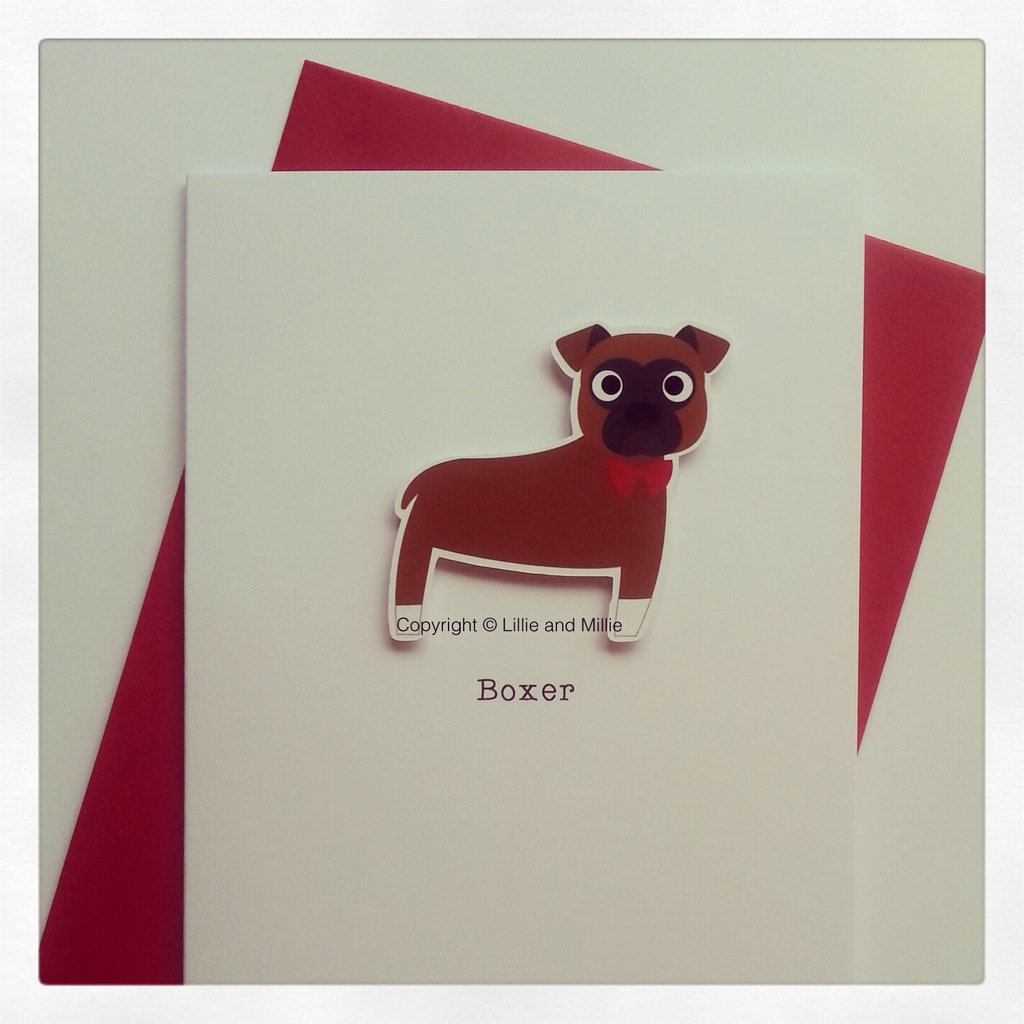 Cute and Cuddly Boxer Greetings Card