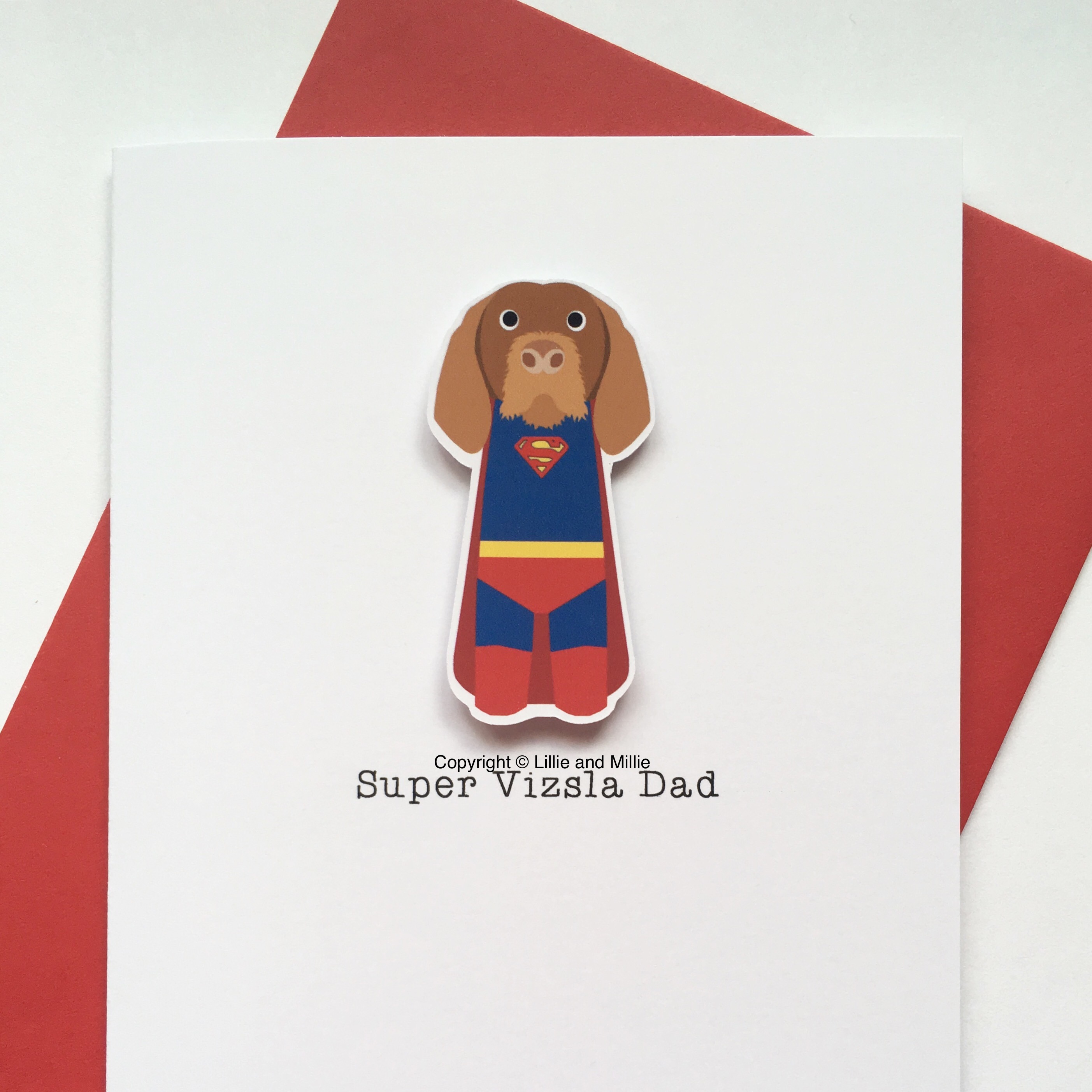 Precious Pooch Super Wire Hair Vizsla Dad Card