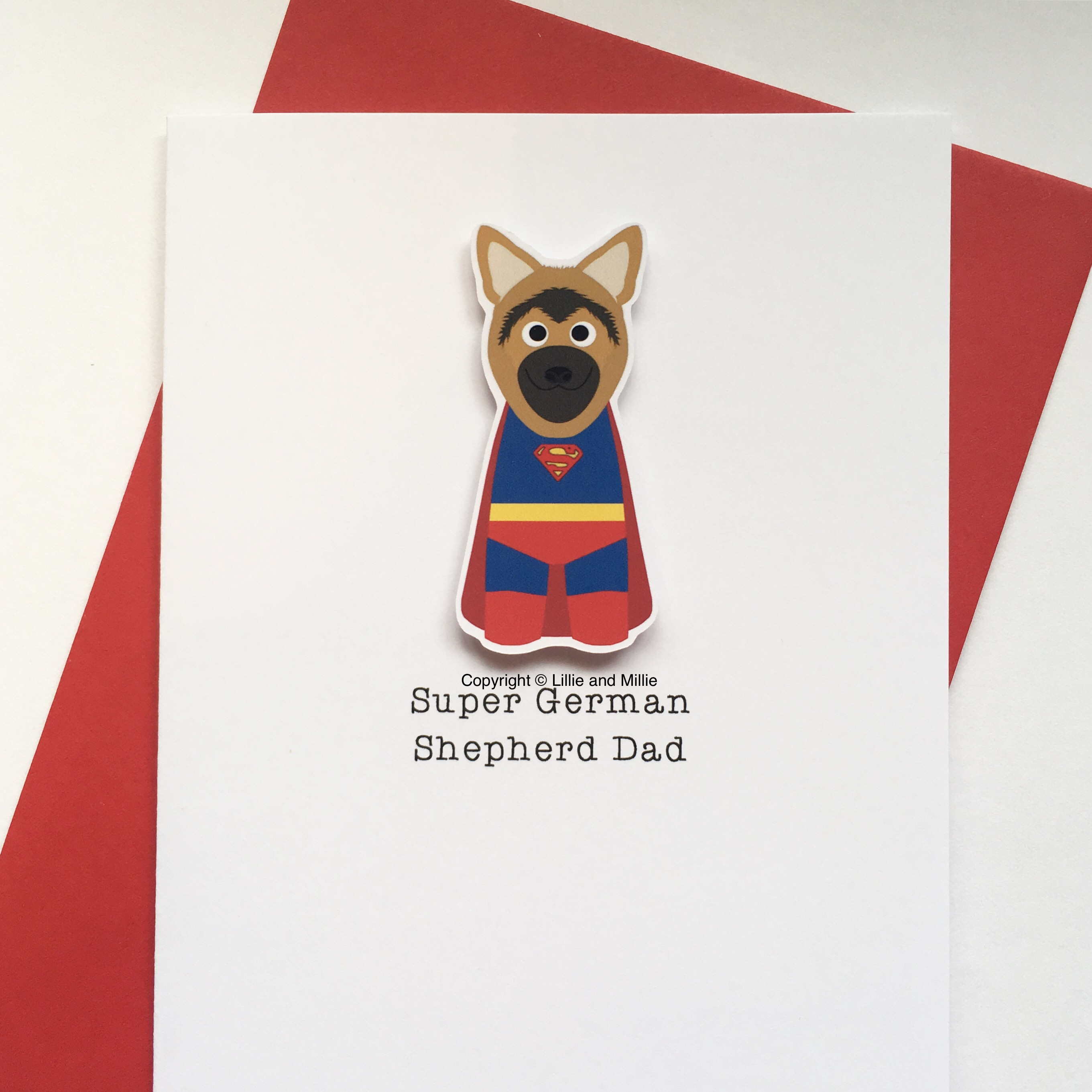 Cute and Cuddly Super German Shepherd Card
