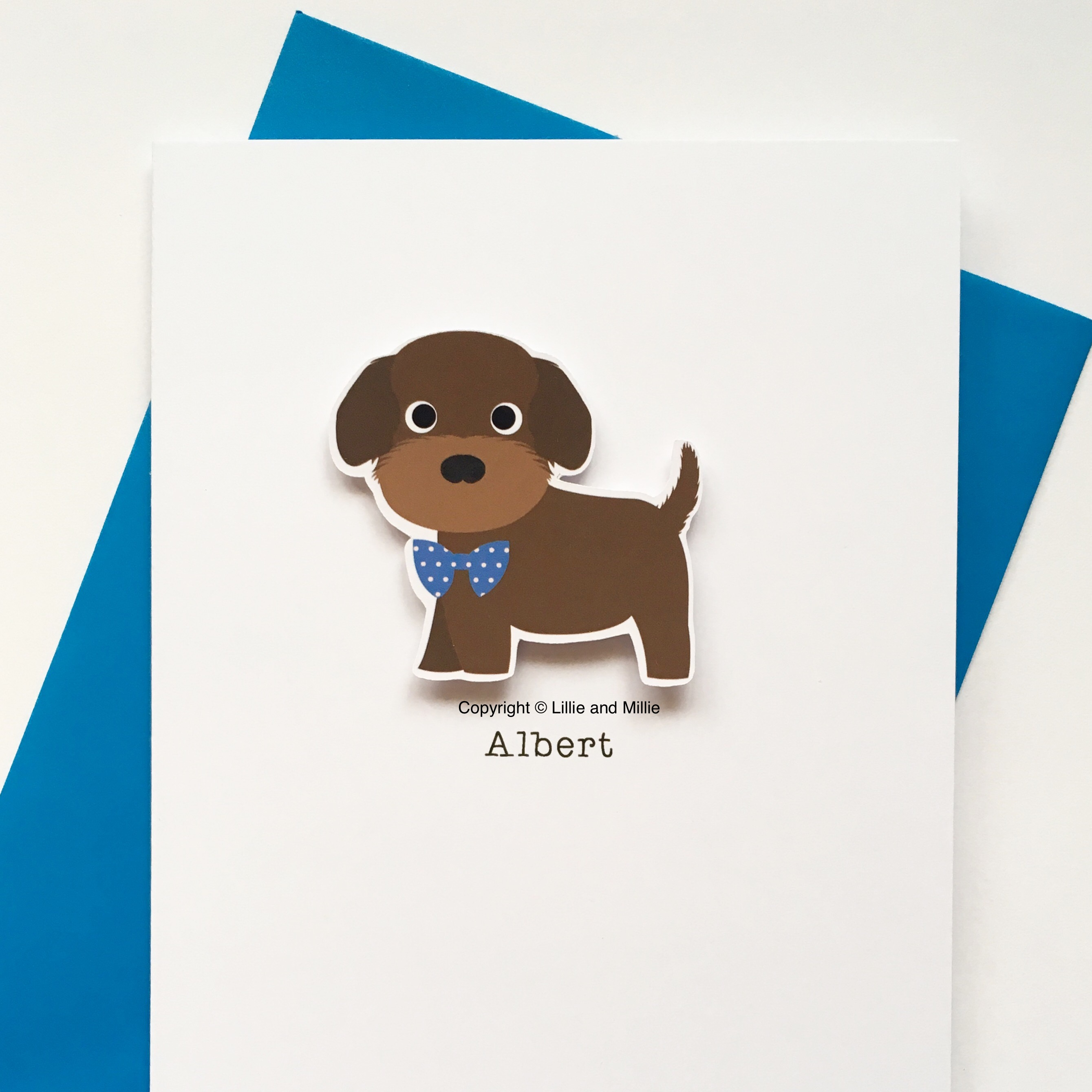 Personalised Cockapoo Puppy Card