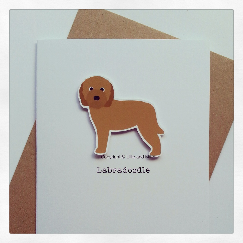 Precious Pooch Large Golden Labradoodle Card