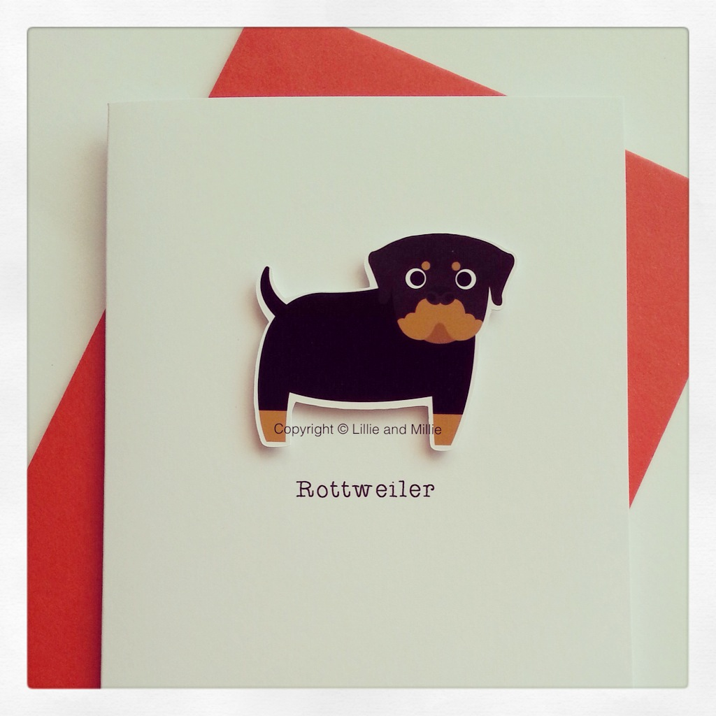 Cute and Cuddly Rottweiler Card