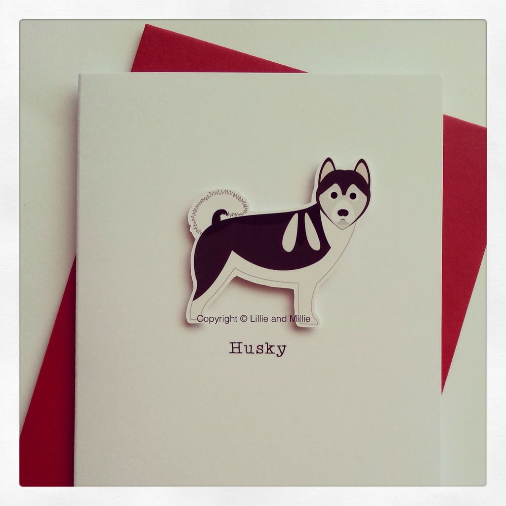 Husky  Dog Greeting Card