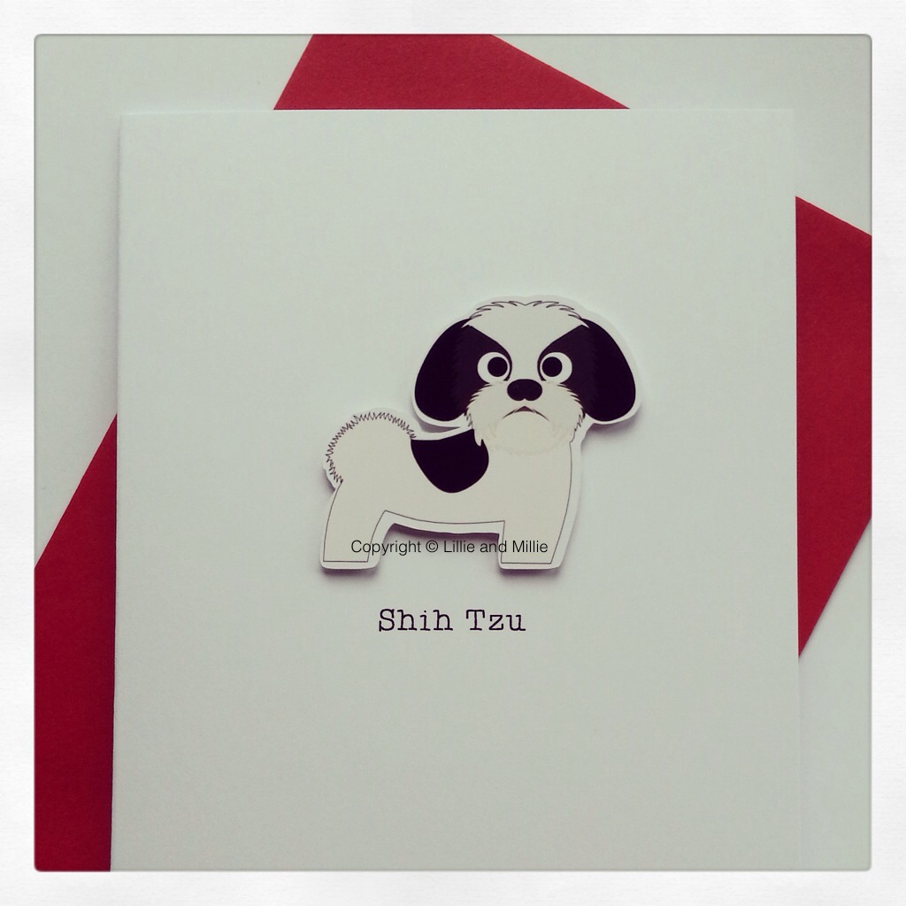 Shih Tzu Dog Greetings Card