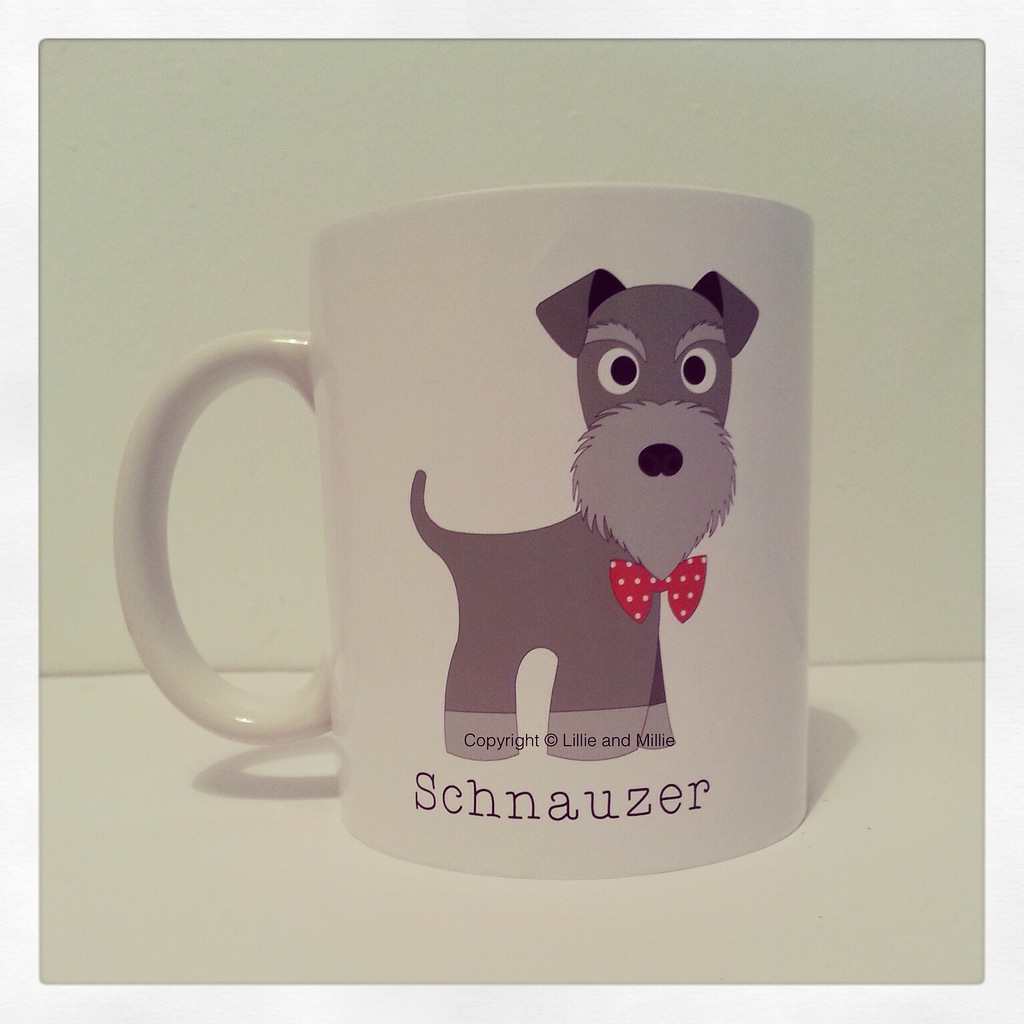 Cute and Cuddly Salt and Pepper Schnauzer Breed Mug