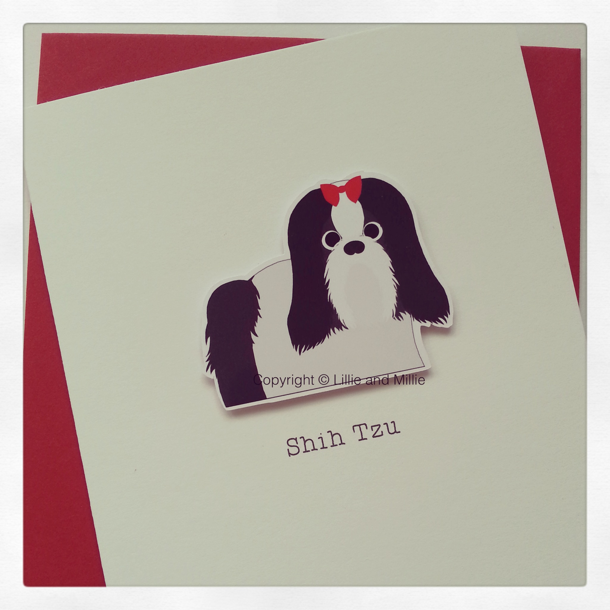 Shih Tzu Cute and Cuddly Dog Greetings Card