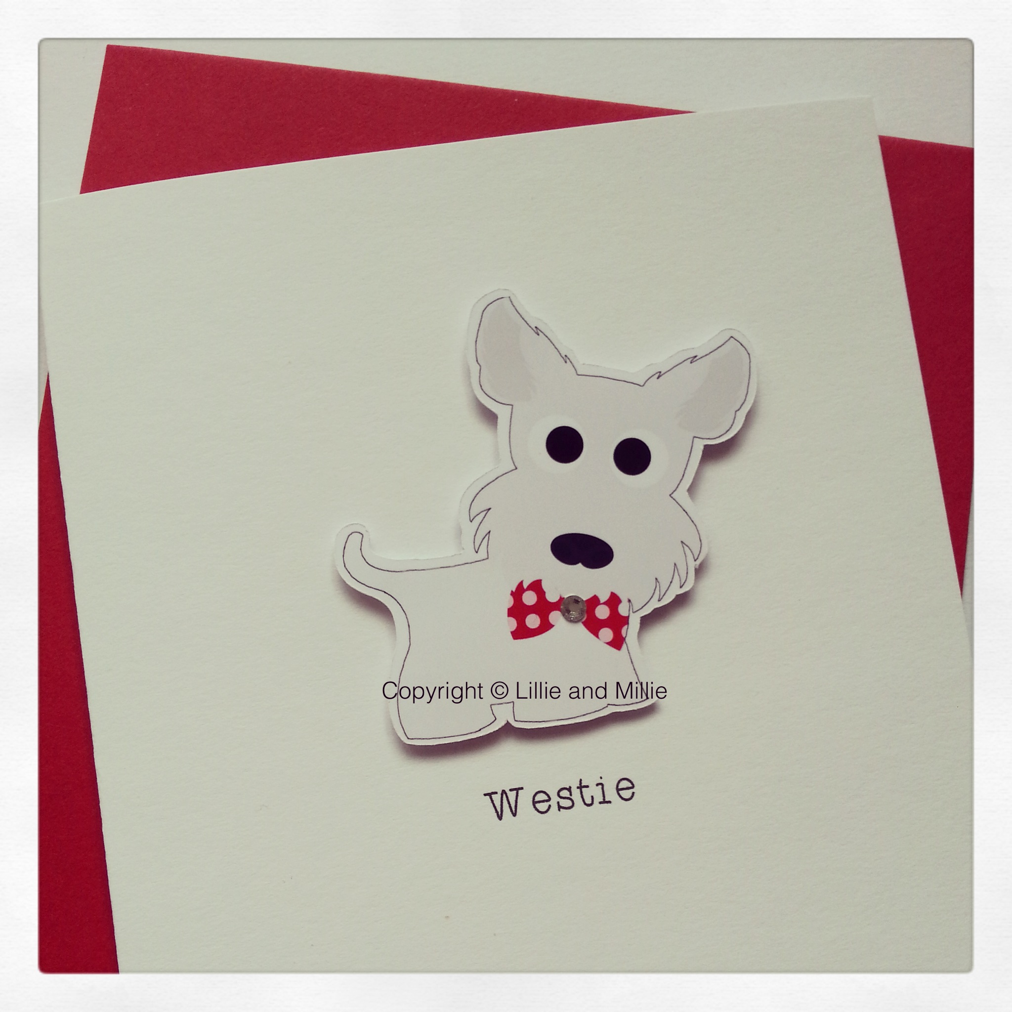 Cute and Cuddly Westie Red Card