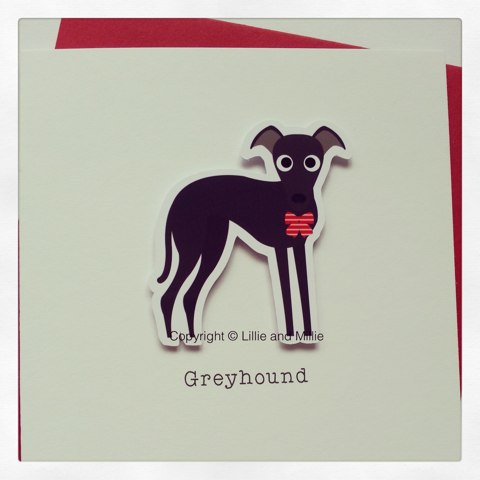 Cute and Cuddly Greyhound Greetings Card