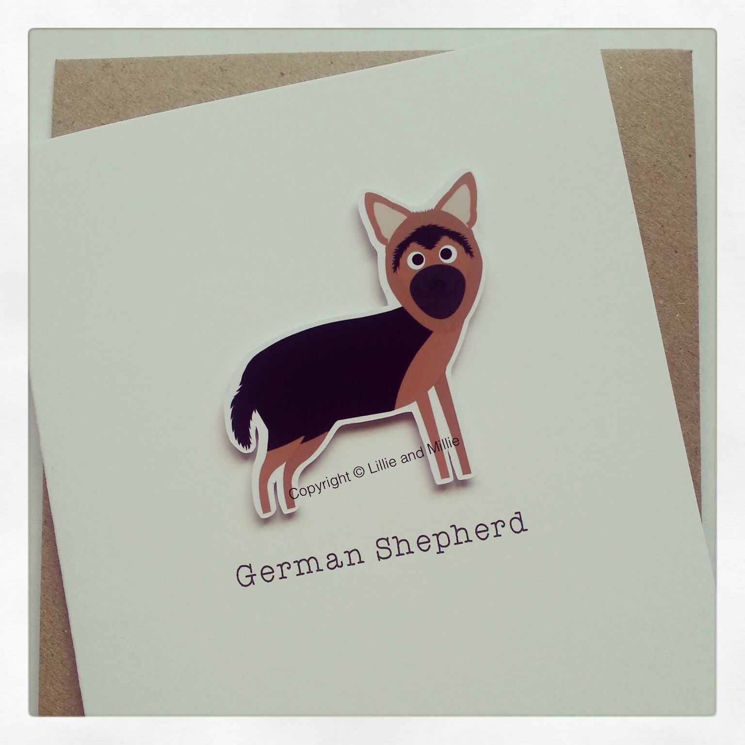 German Shepherd Dog Greetings Card