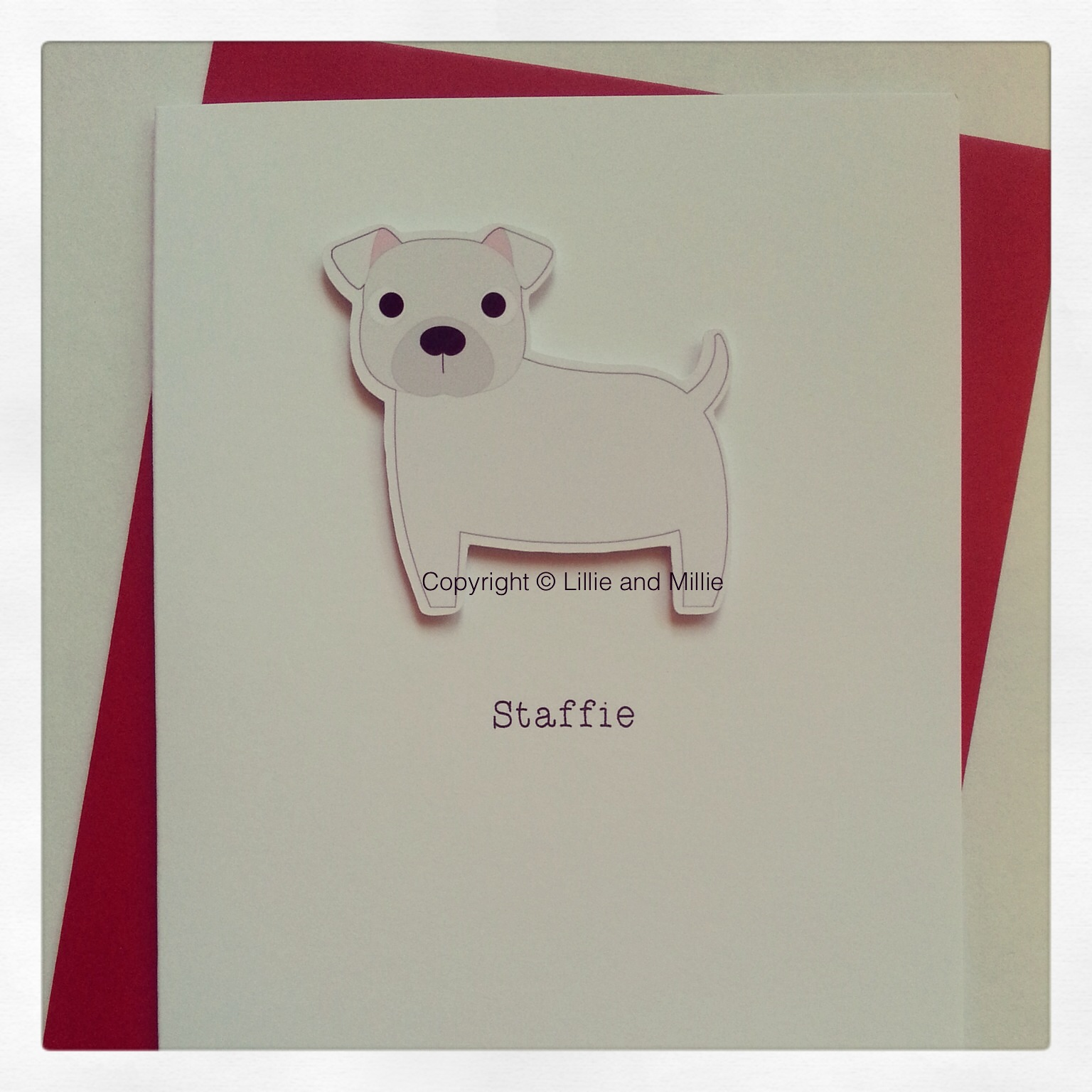 Staffie Dog Greetings Card