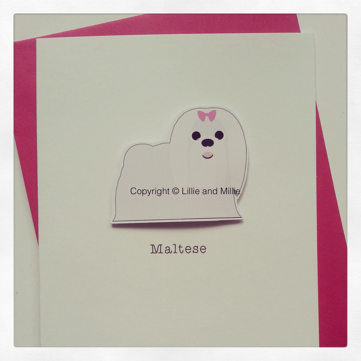 Cute and Cuddly Maltese Dog Greetings Card
