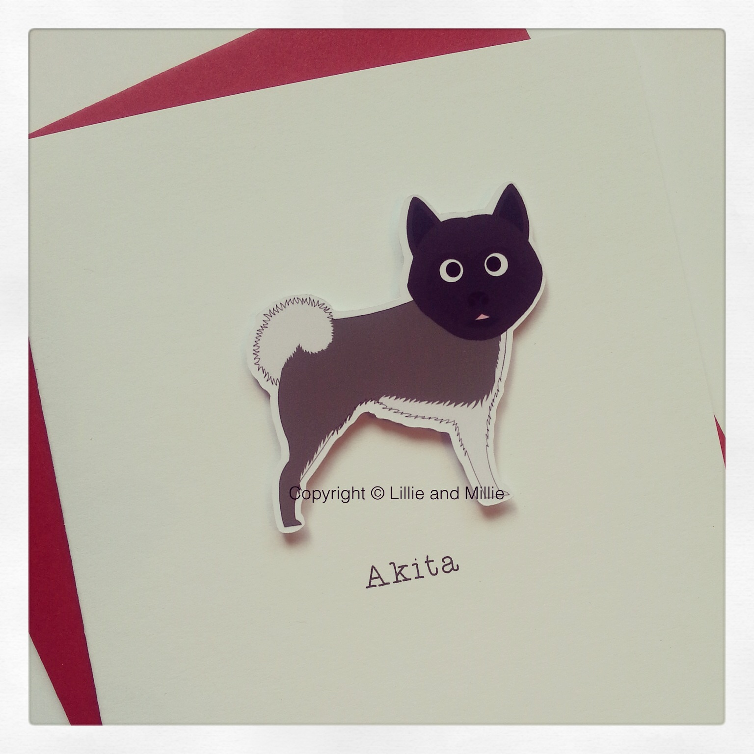 Akita Dog Greetings Card