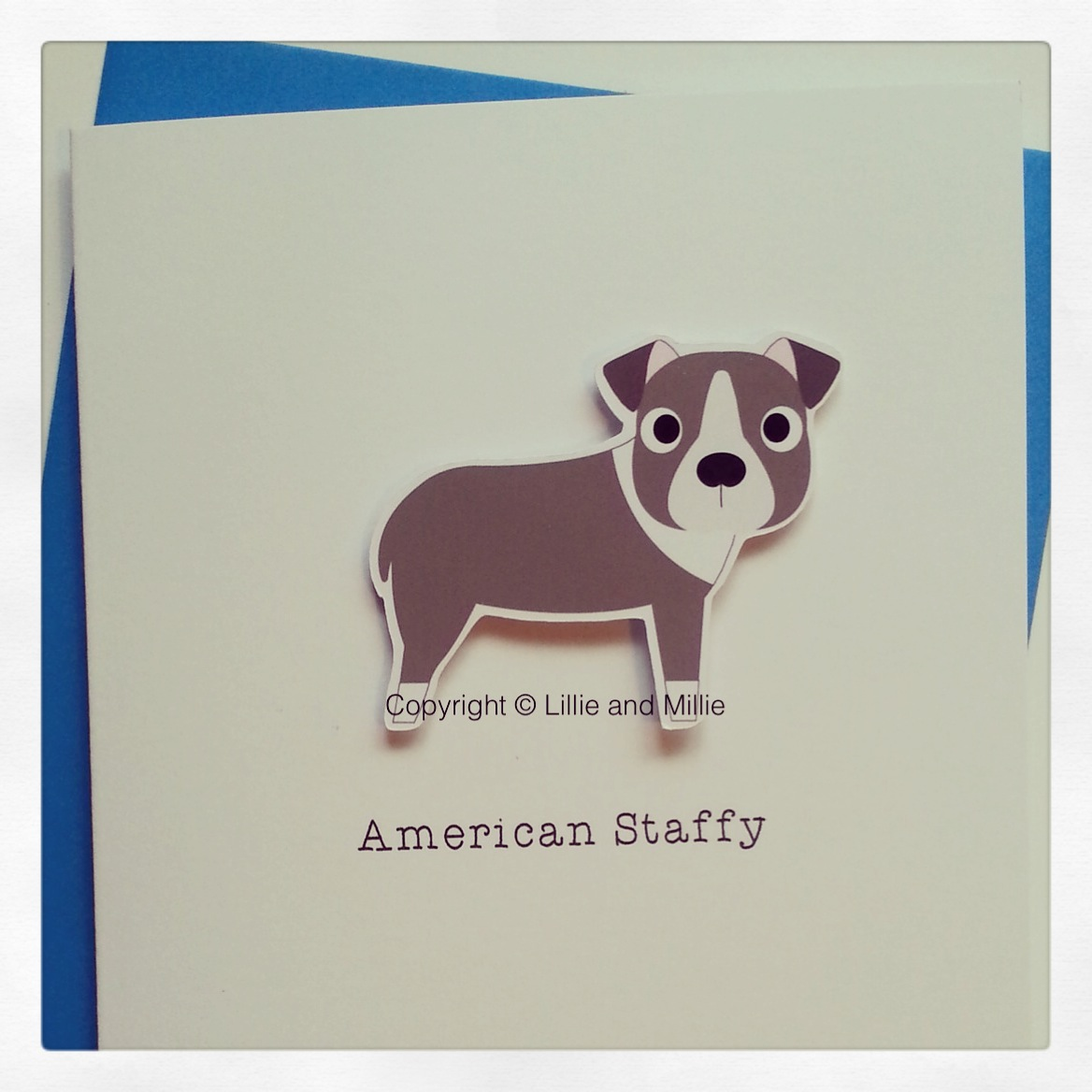 American Staffy Dog Greetings Card