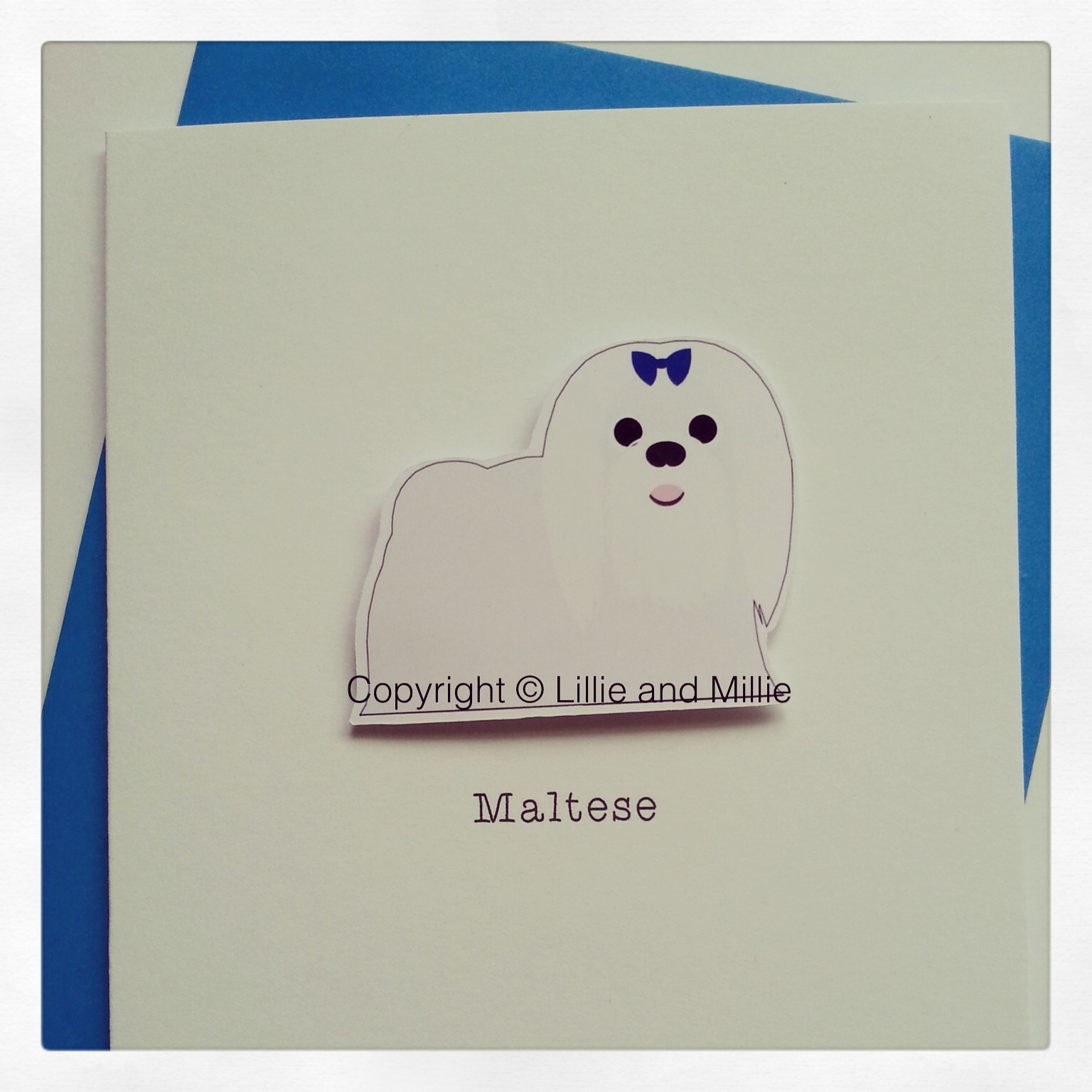 Cute and Cuddly Maltese Dog Greetings Cards