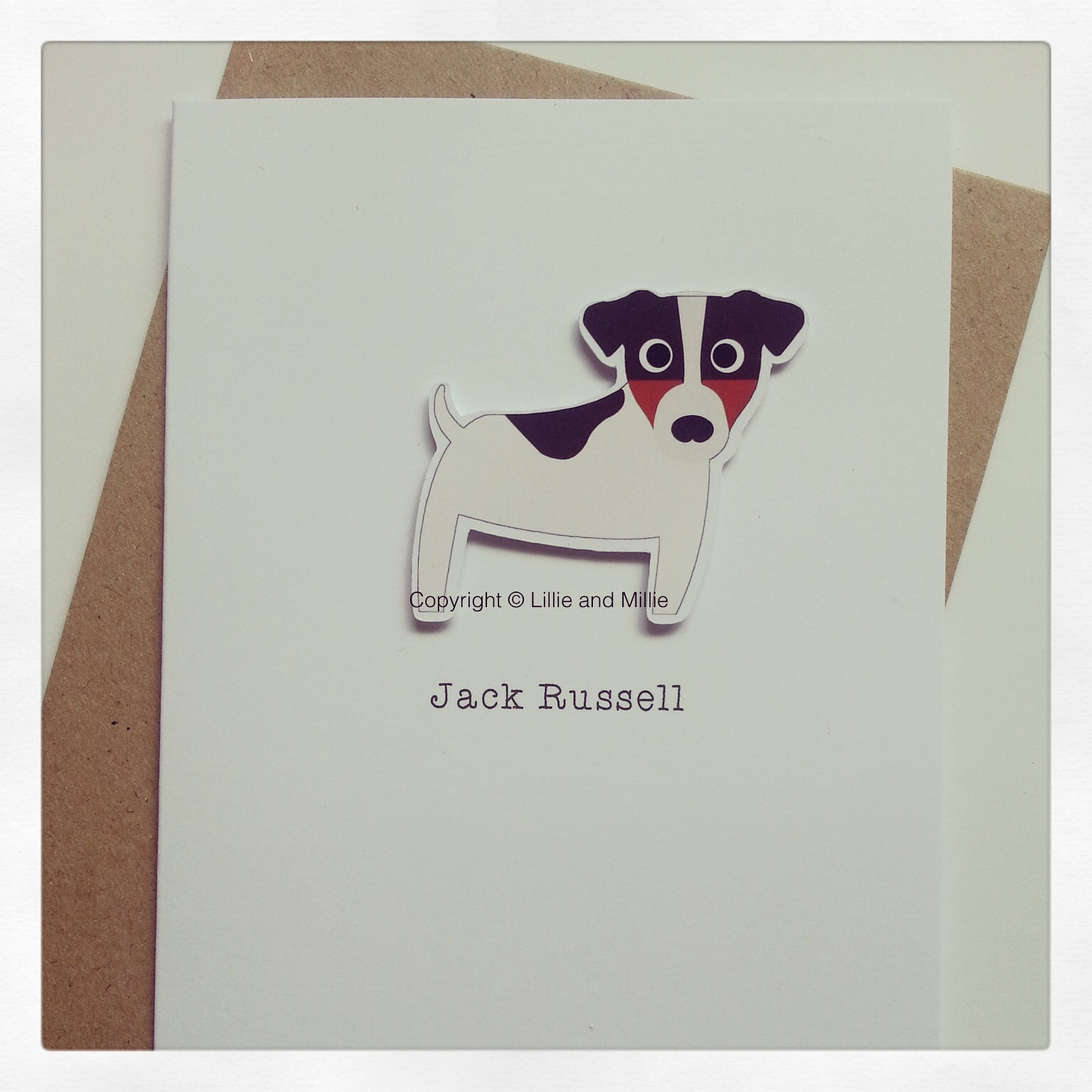 Cute and Cuddly Jack Russell Greetings Card