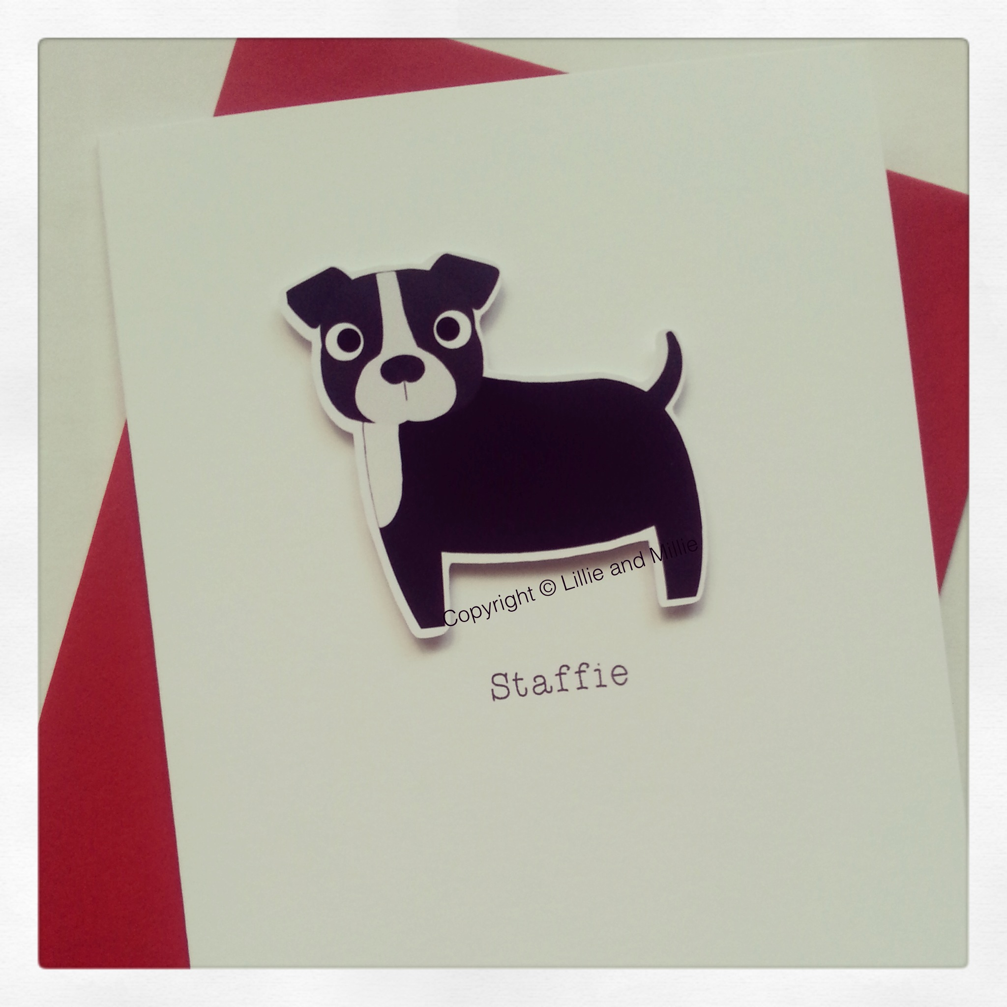 Staffie Staffordshire Bull Terrier Dog Greetings Card