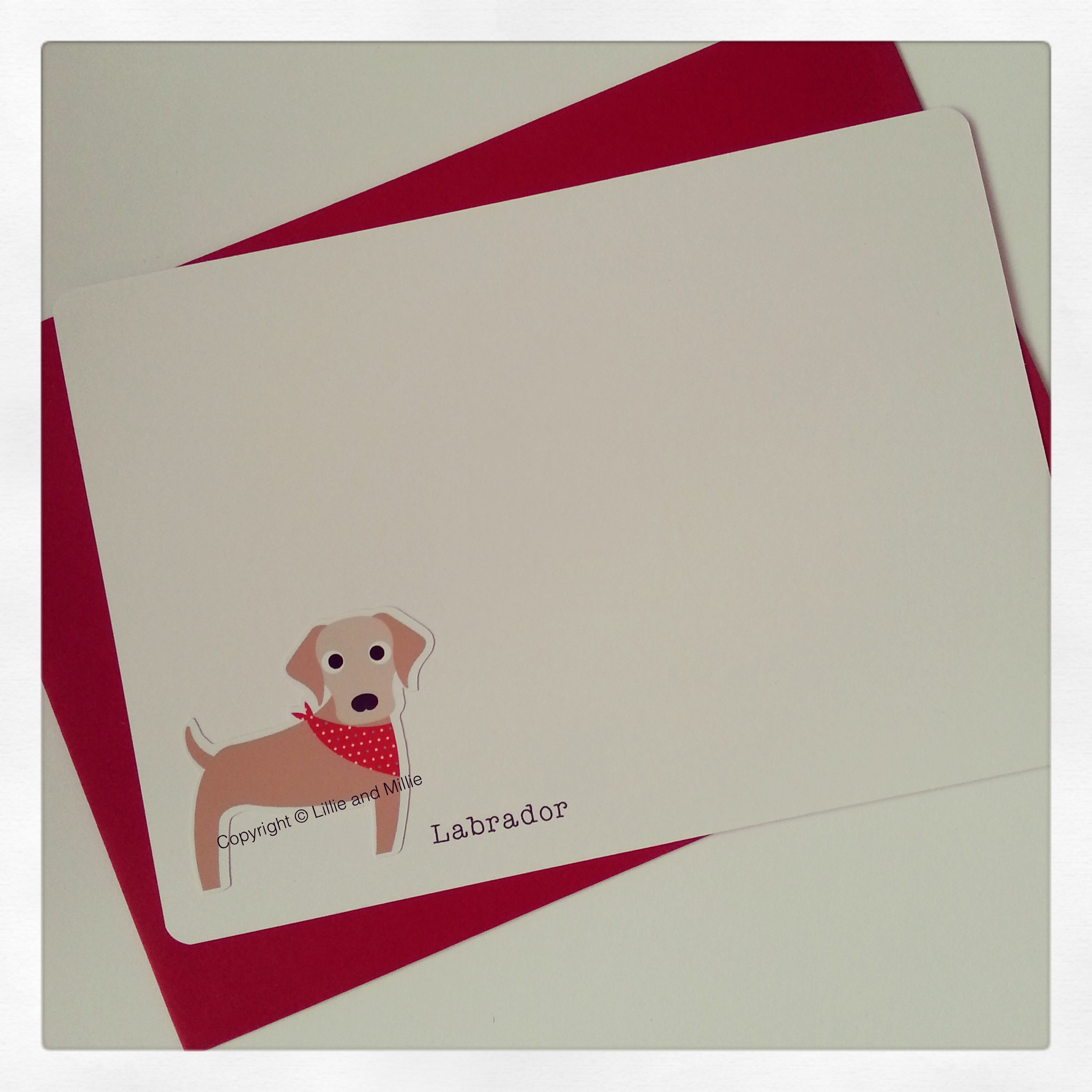 Cute and Cuddly Labrador Notelet Cards 4 Pack