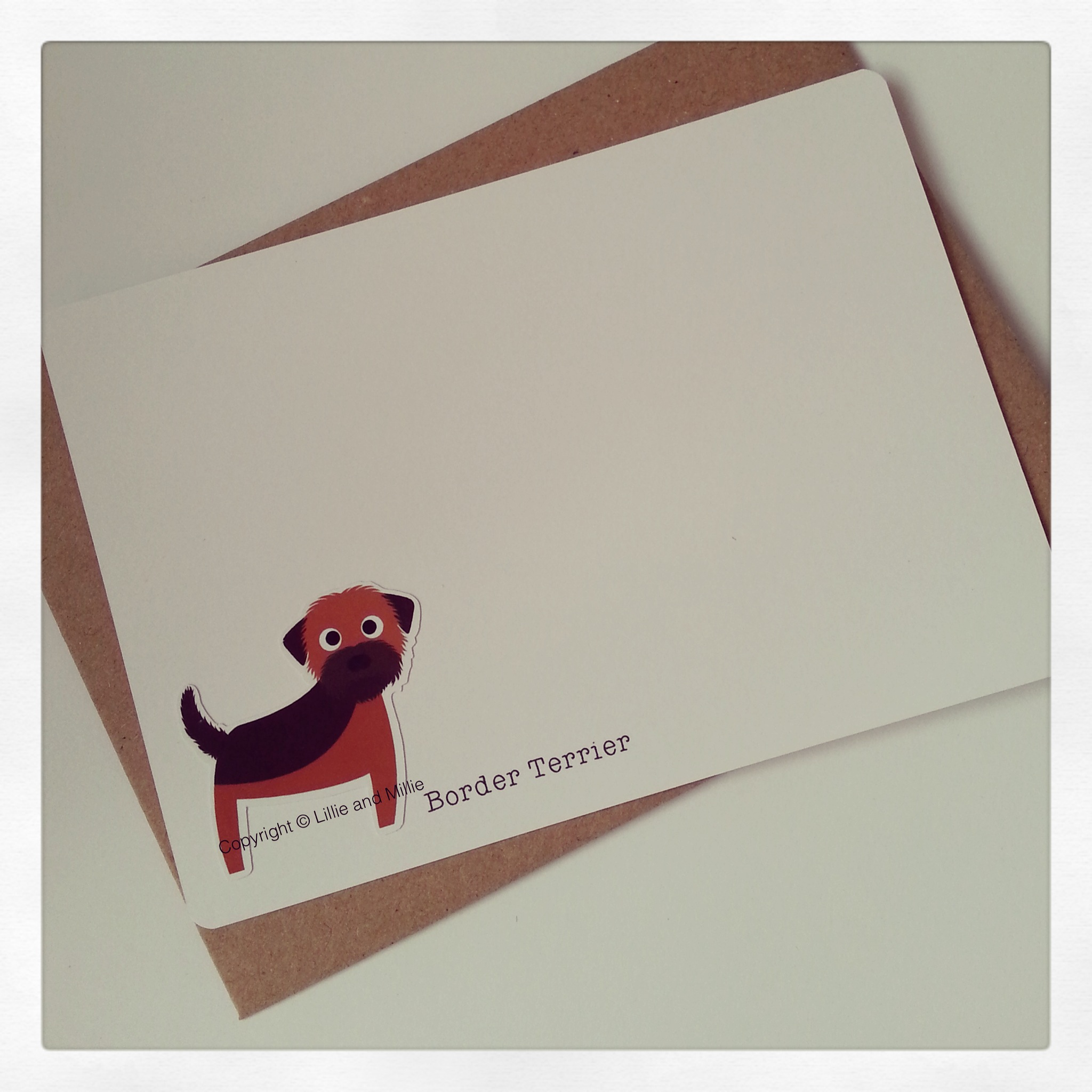 Border Terrier Dog Greetings Card