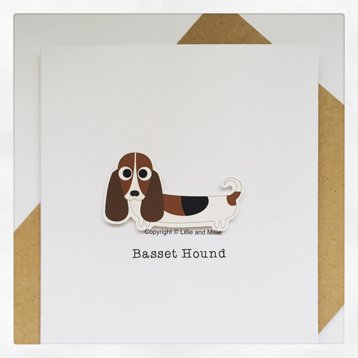 Basset Hound Dog Greeting Card